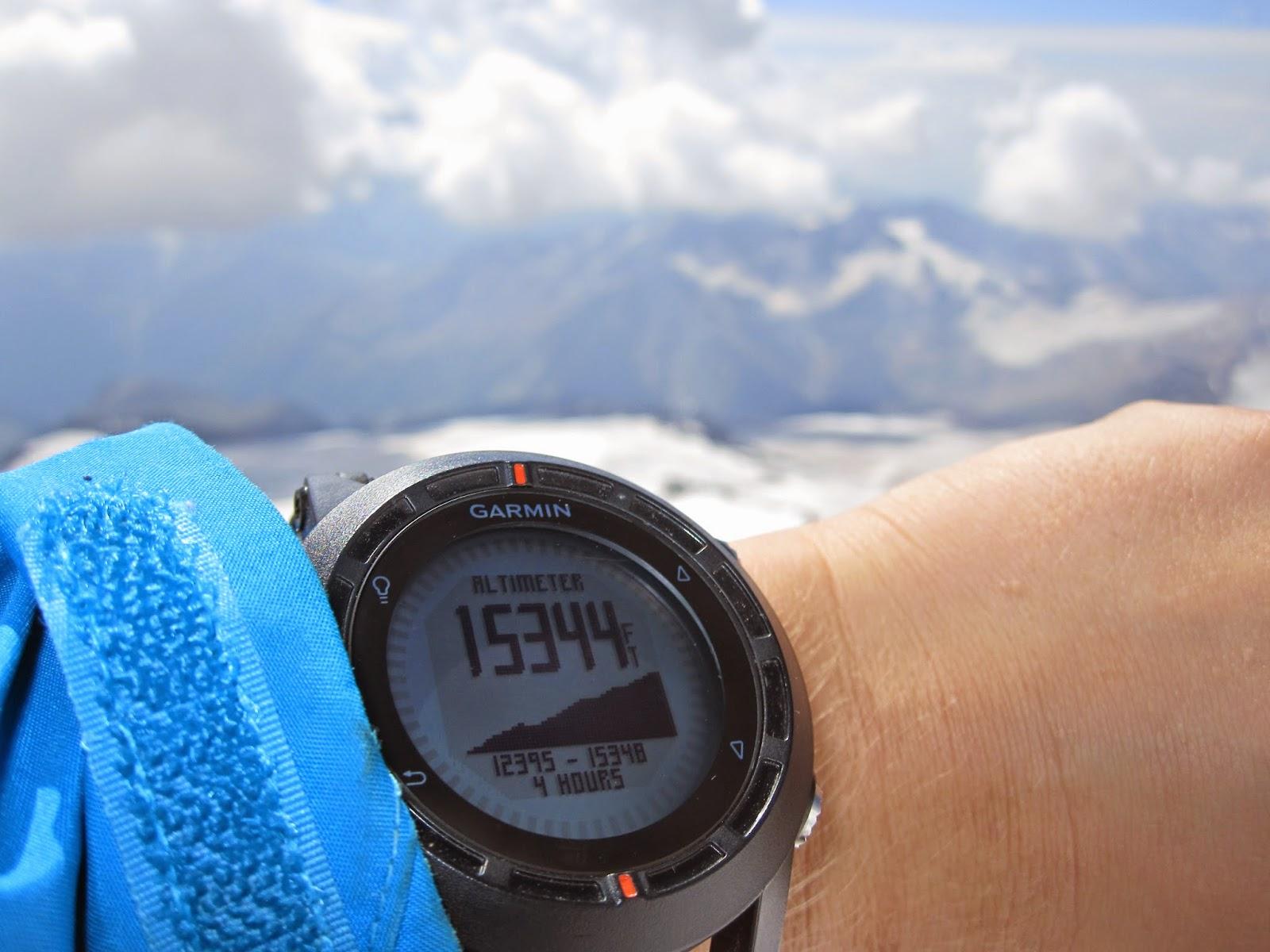 Garmin Fenix GPS watch altimeter