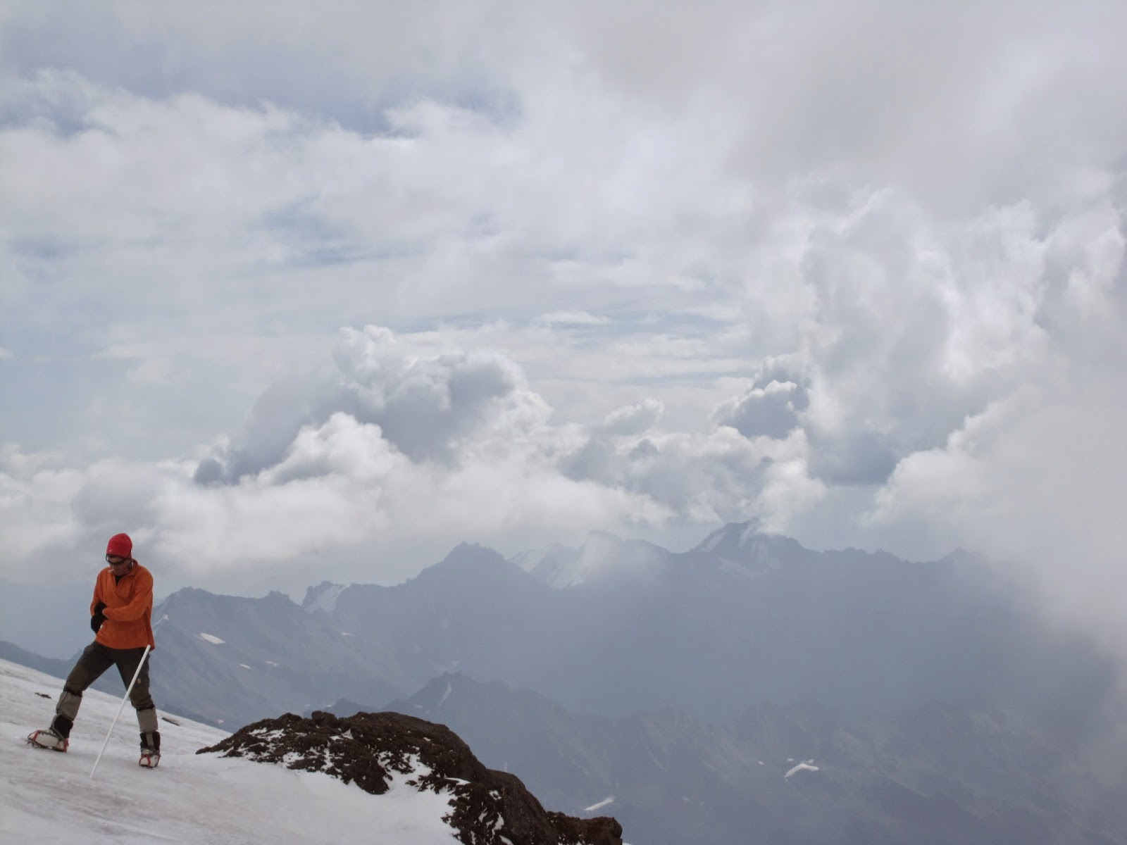 Our guide from Pilgrim Tours on Mount Elbrus