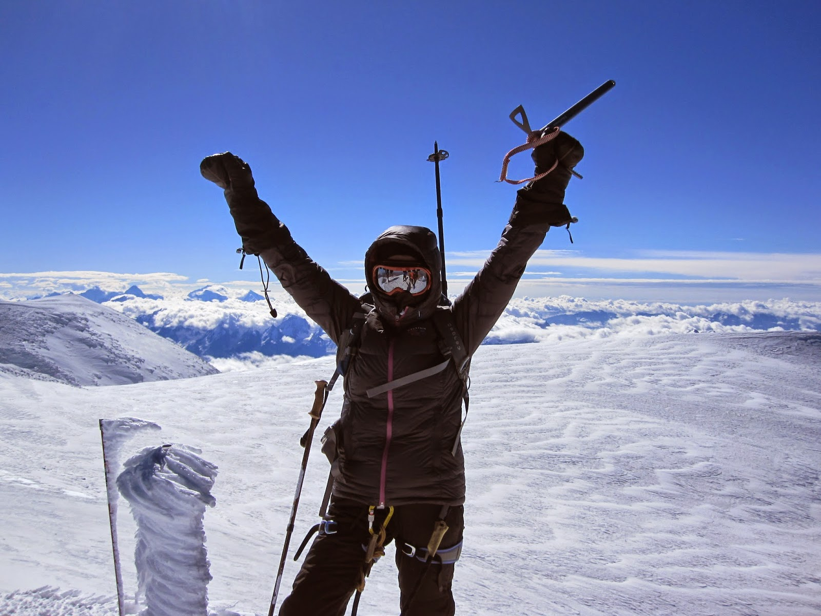 I made it to the summit of Mount Elbrus! The views were amazing.