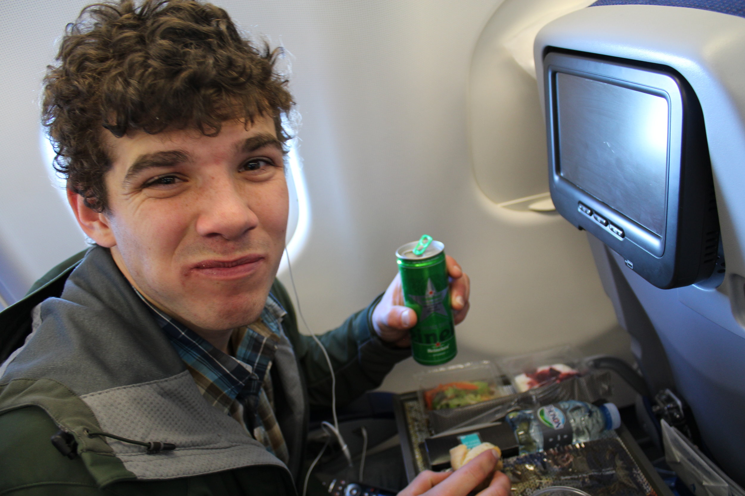There was so much good food on our KLM flight!