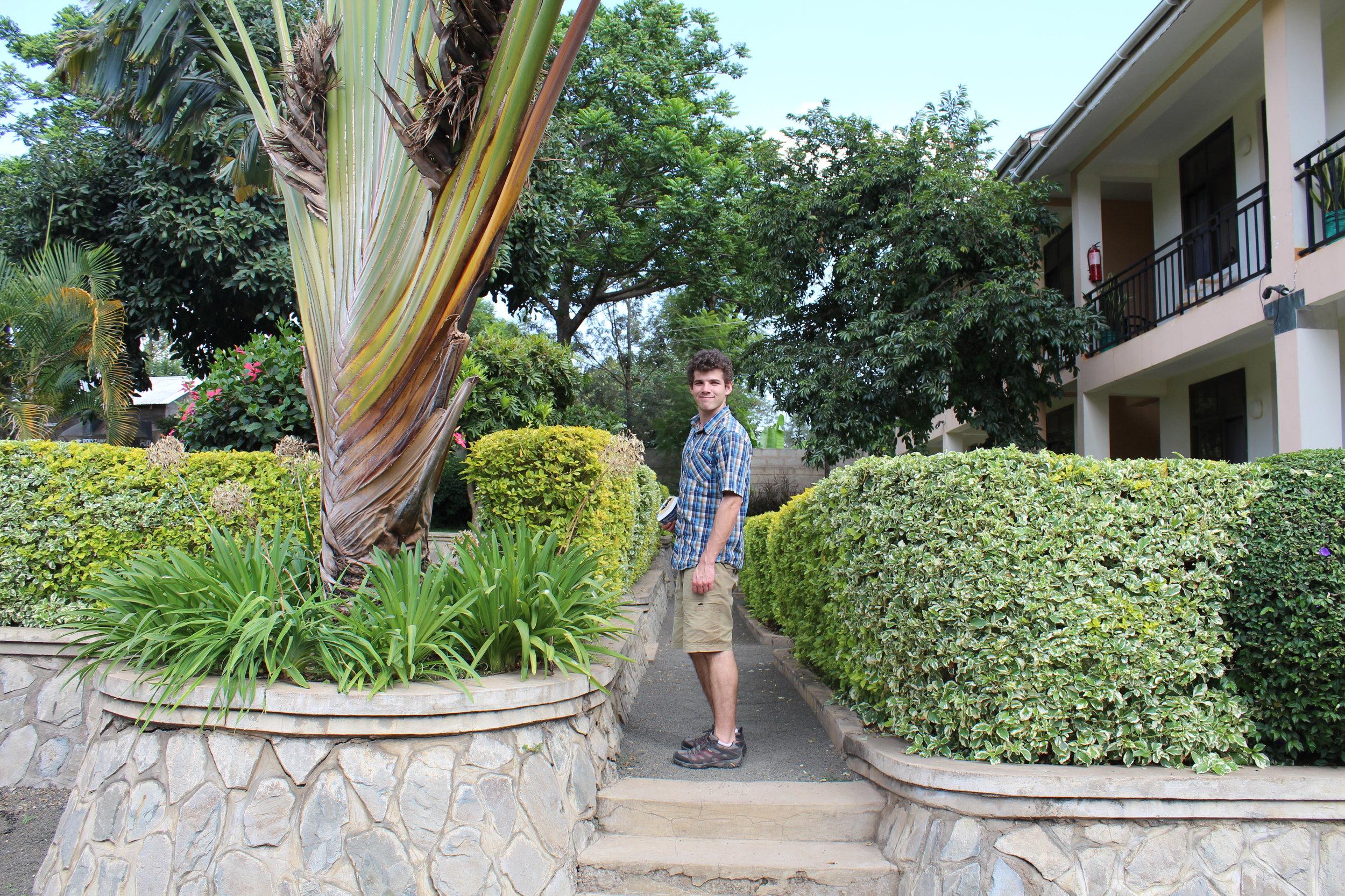 Exploring the grounds of Tumaini Cottage