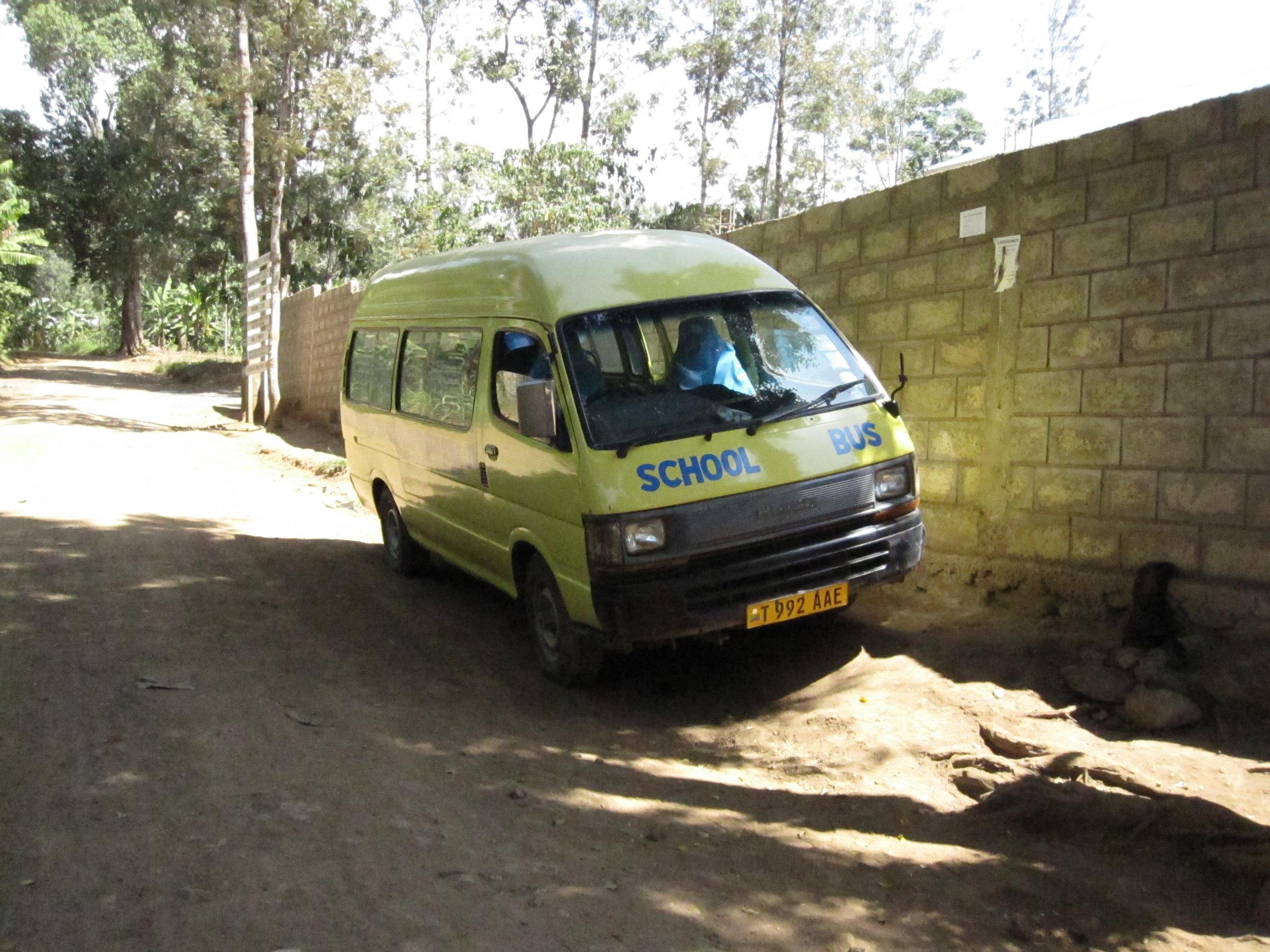 School bus in Tanzania