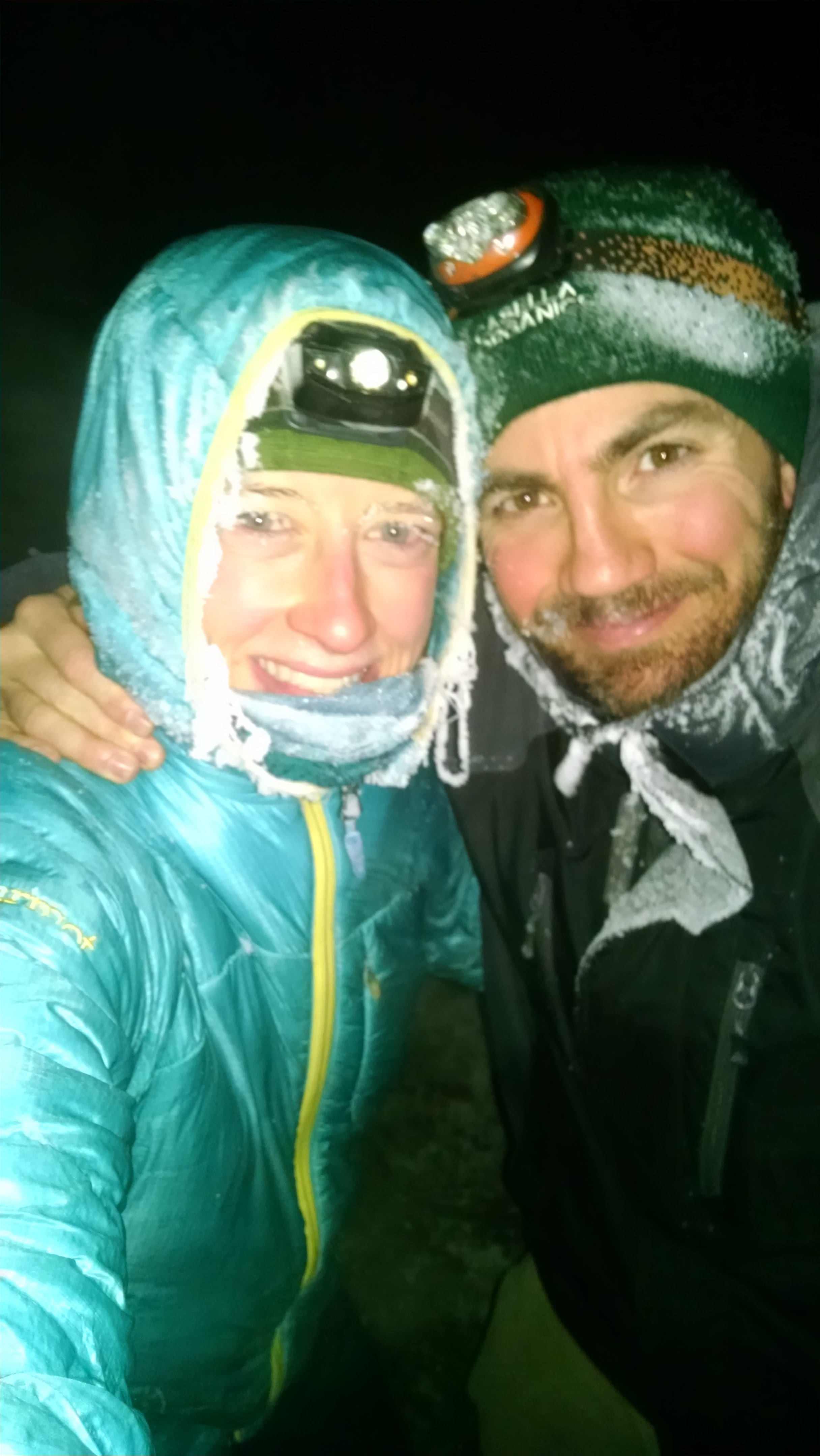 Doing some midnight training in sub-zero temps!