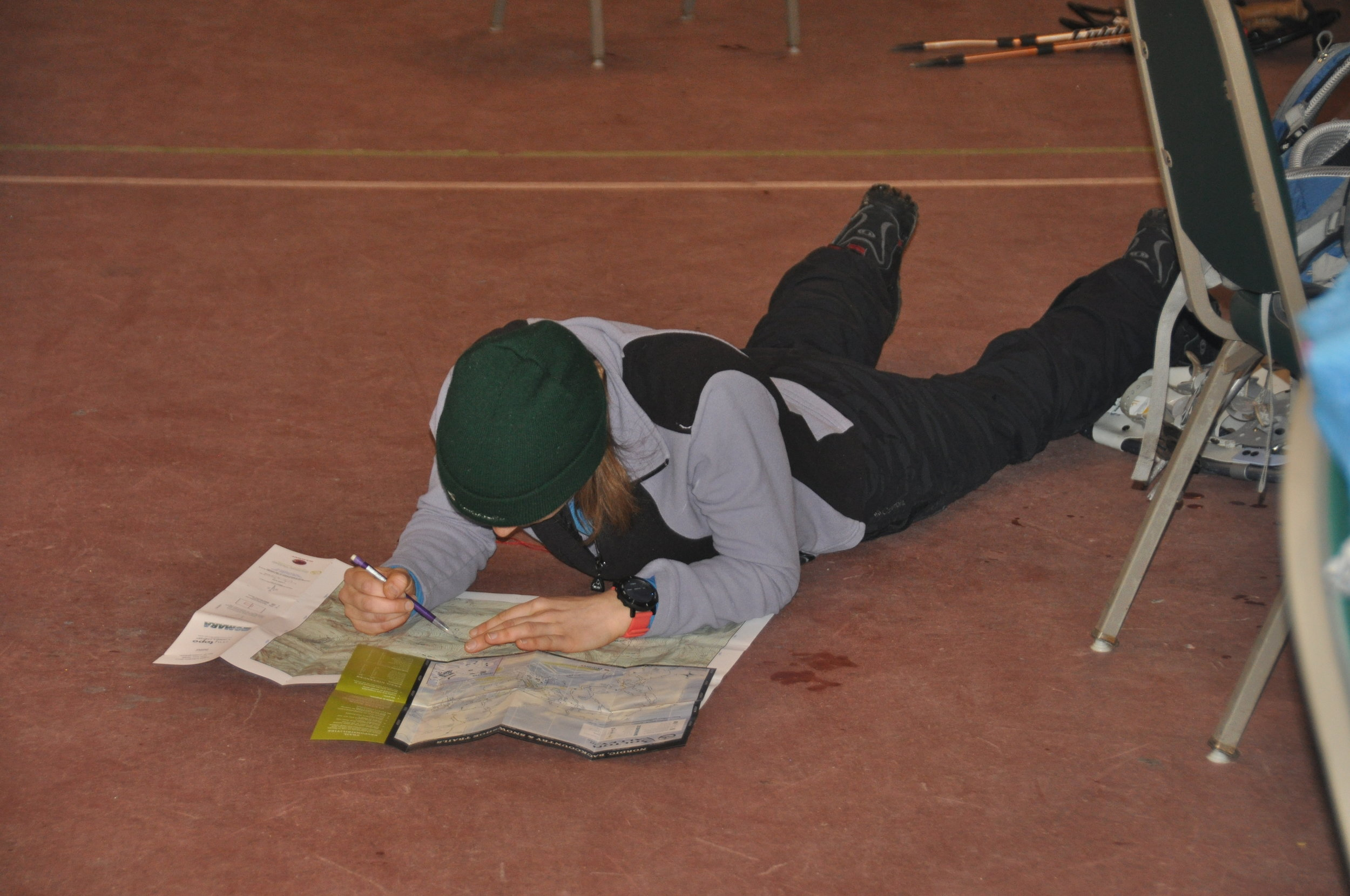 Transposing checkpoints from one map to the other. Photo courtesy of GMARA.