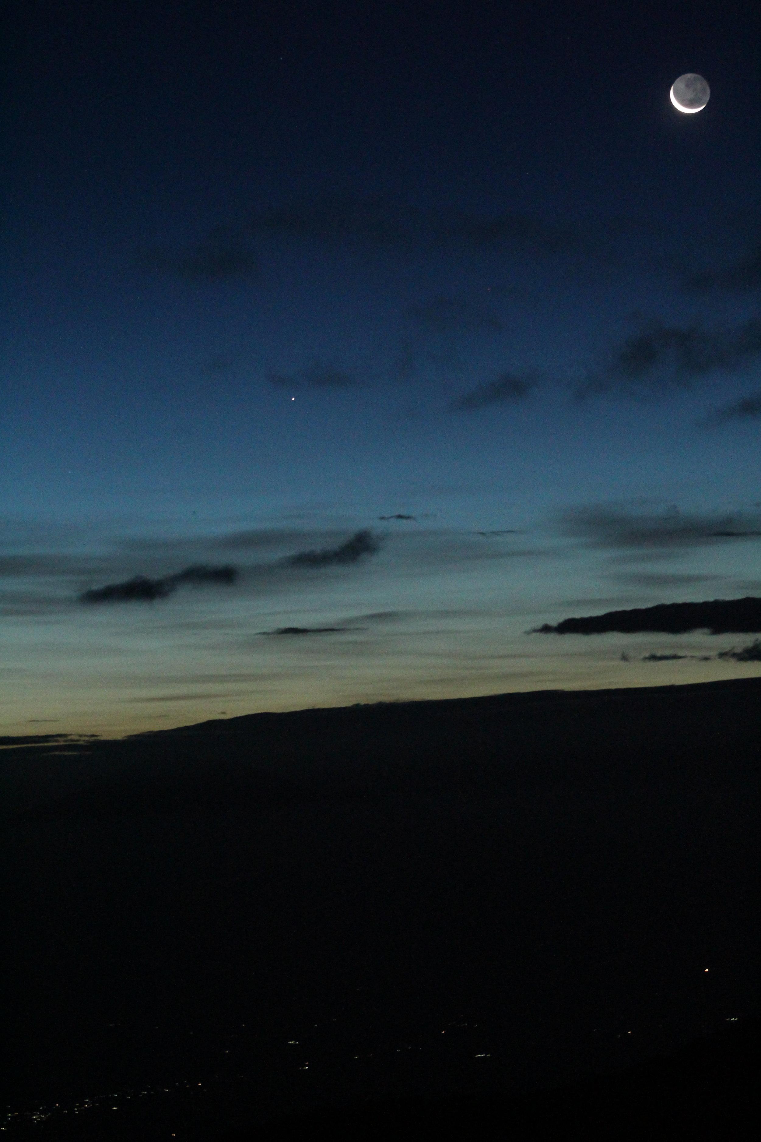 Moon rise on Mount Kilimanjaro