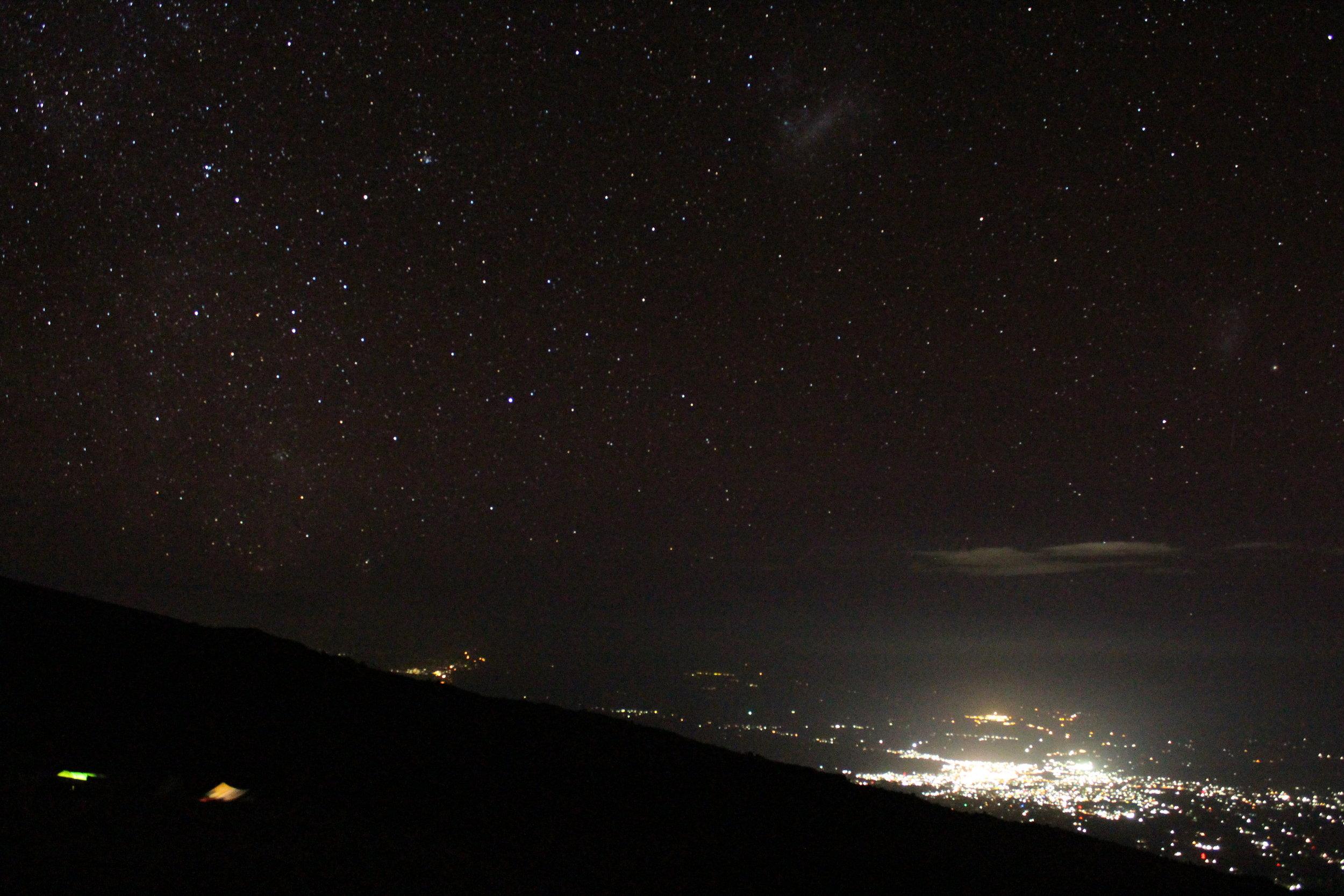 Stargazing from Karanga Valley Camp