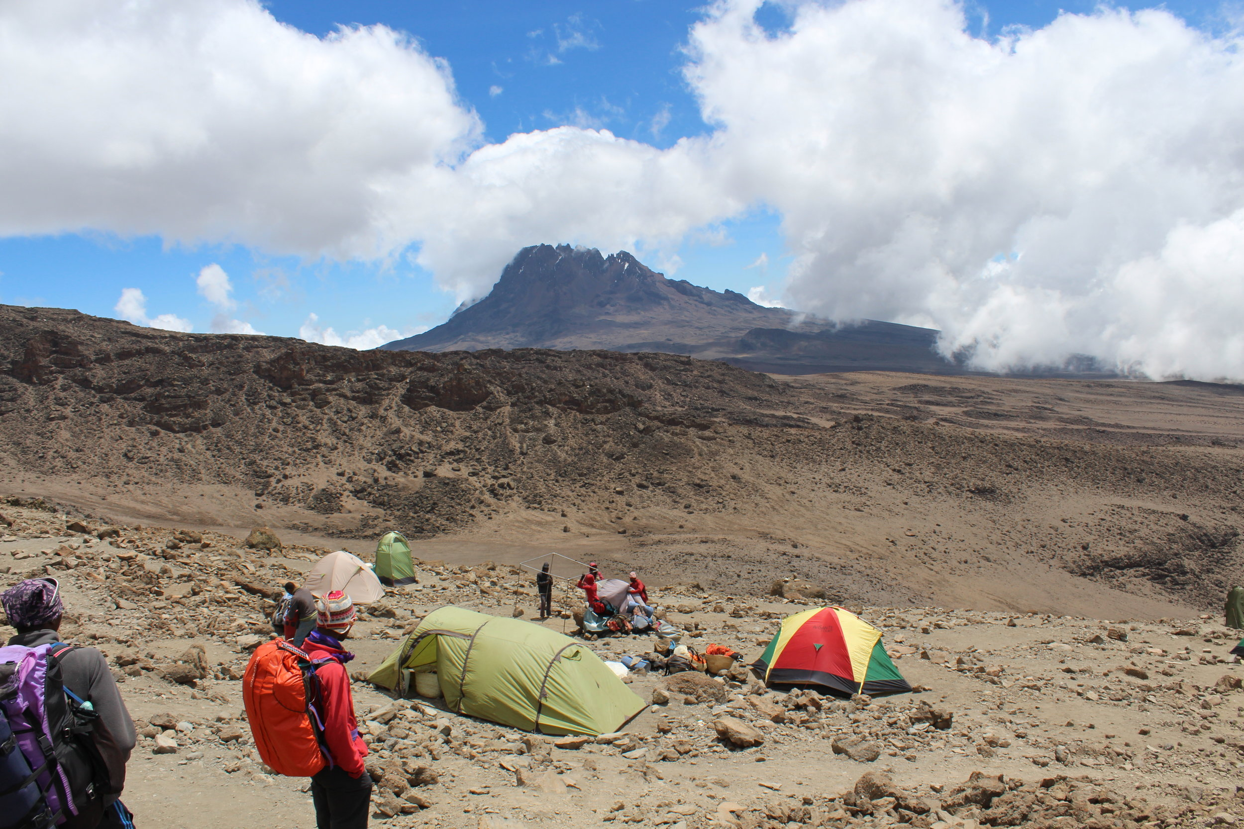 View of Mawenzi from Barafu Camp