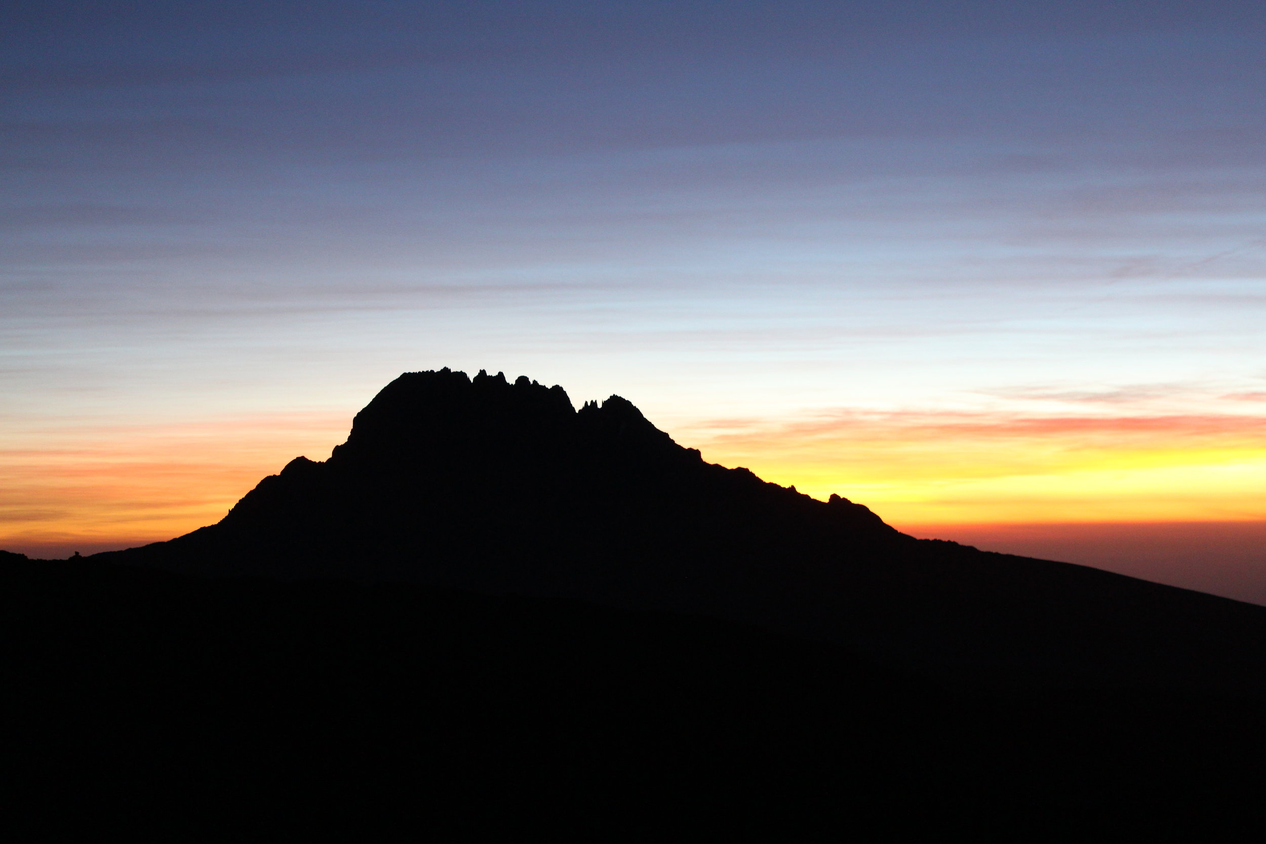 Sunset behind Mawenzi