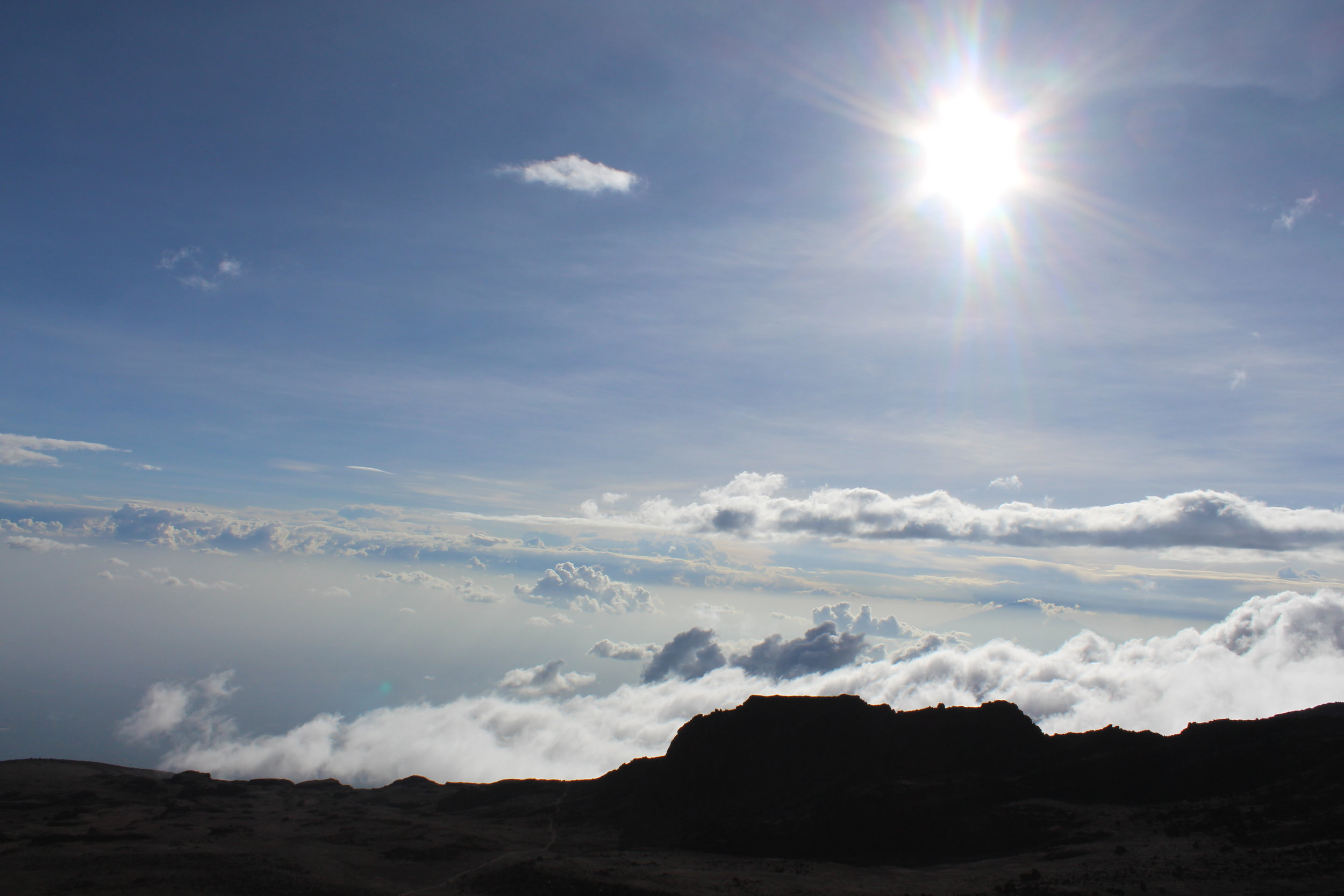 Above the clouds at Barafu Camp