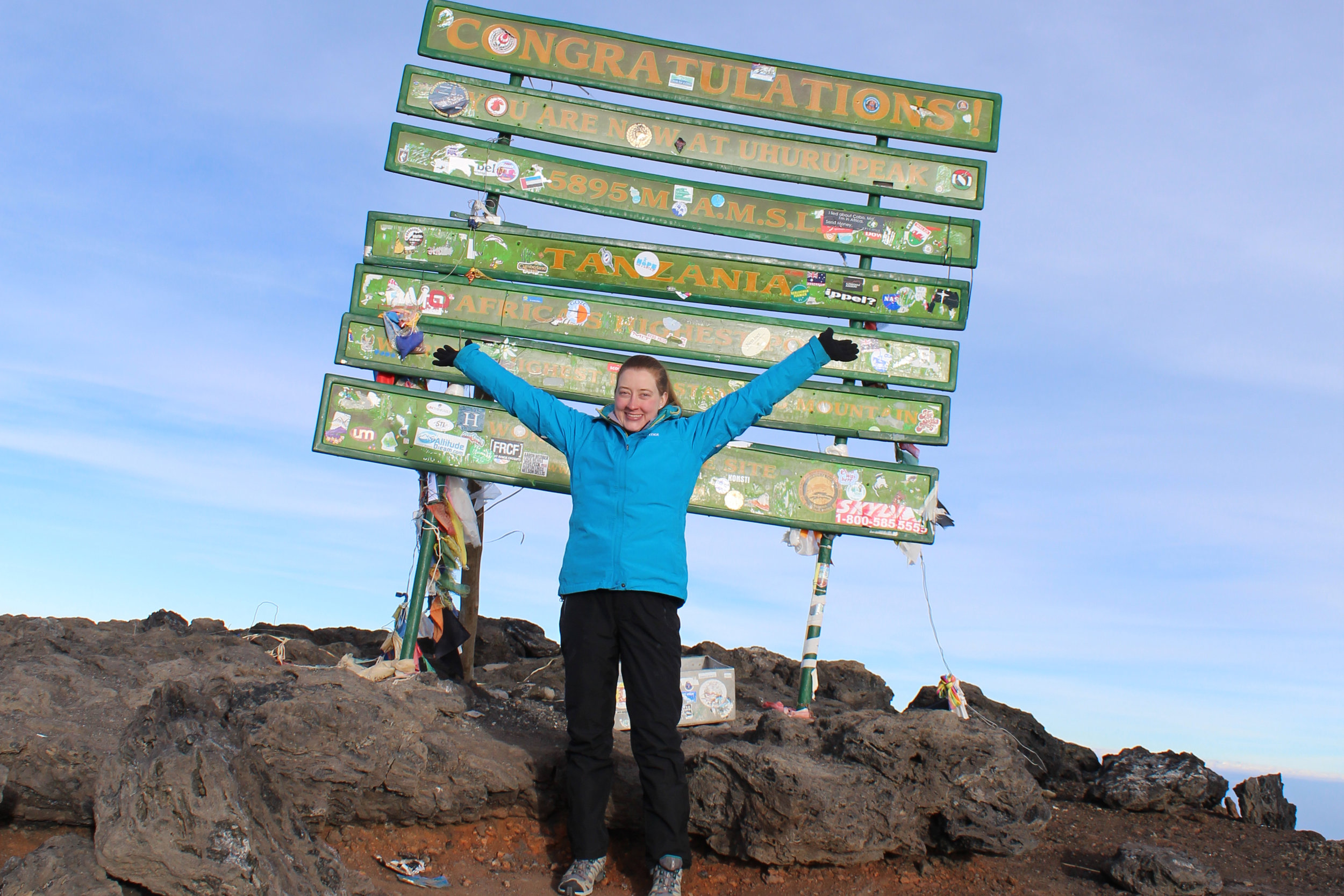 On the summit of Uruhu Peak