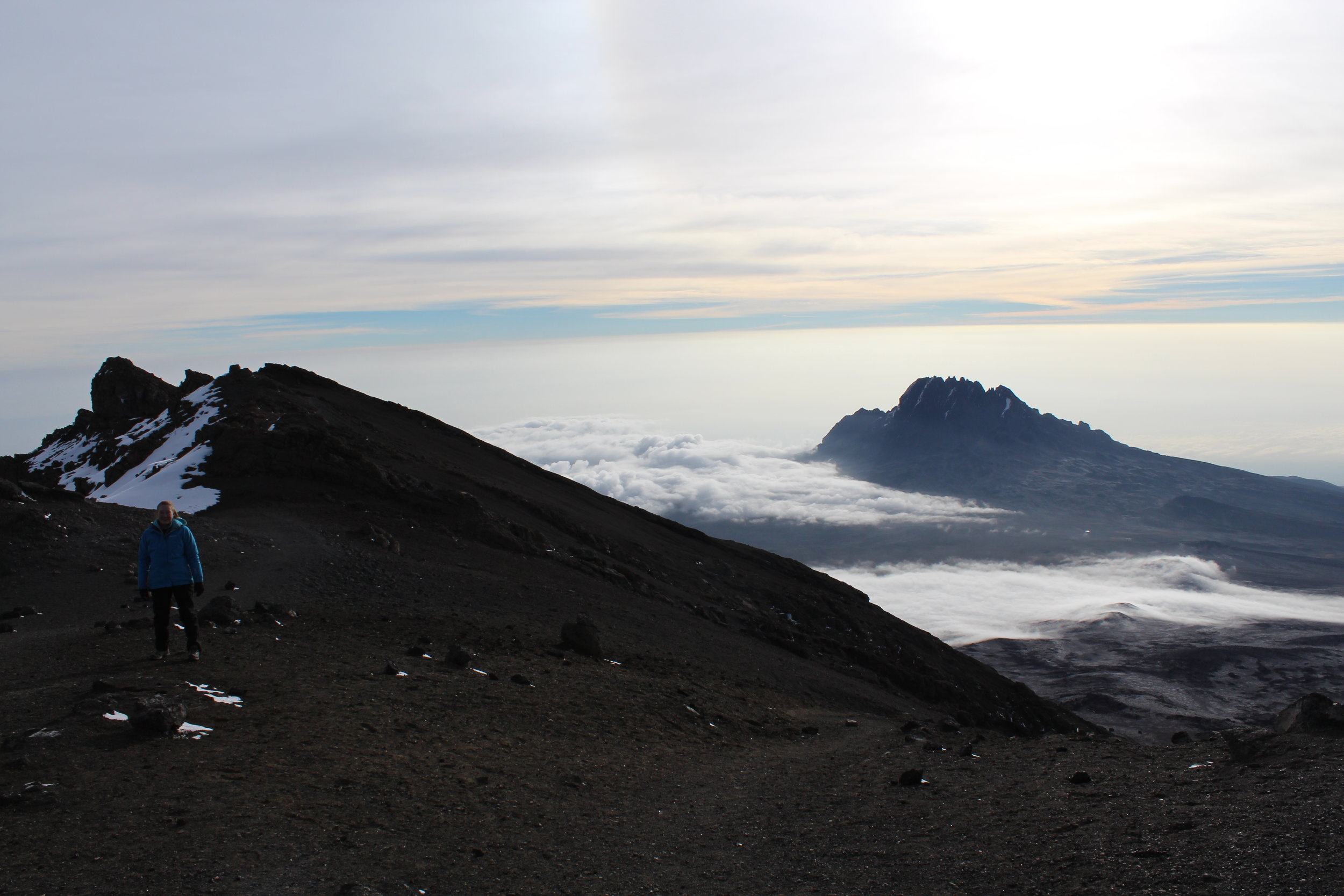 View from the summit of Kilimanjaro