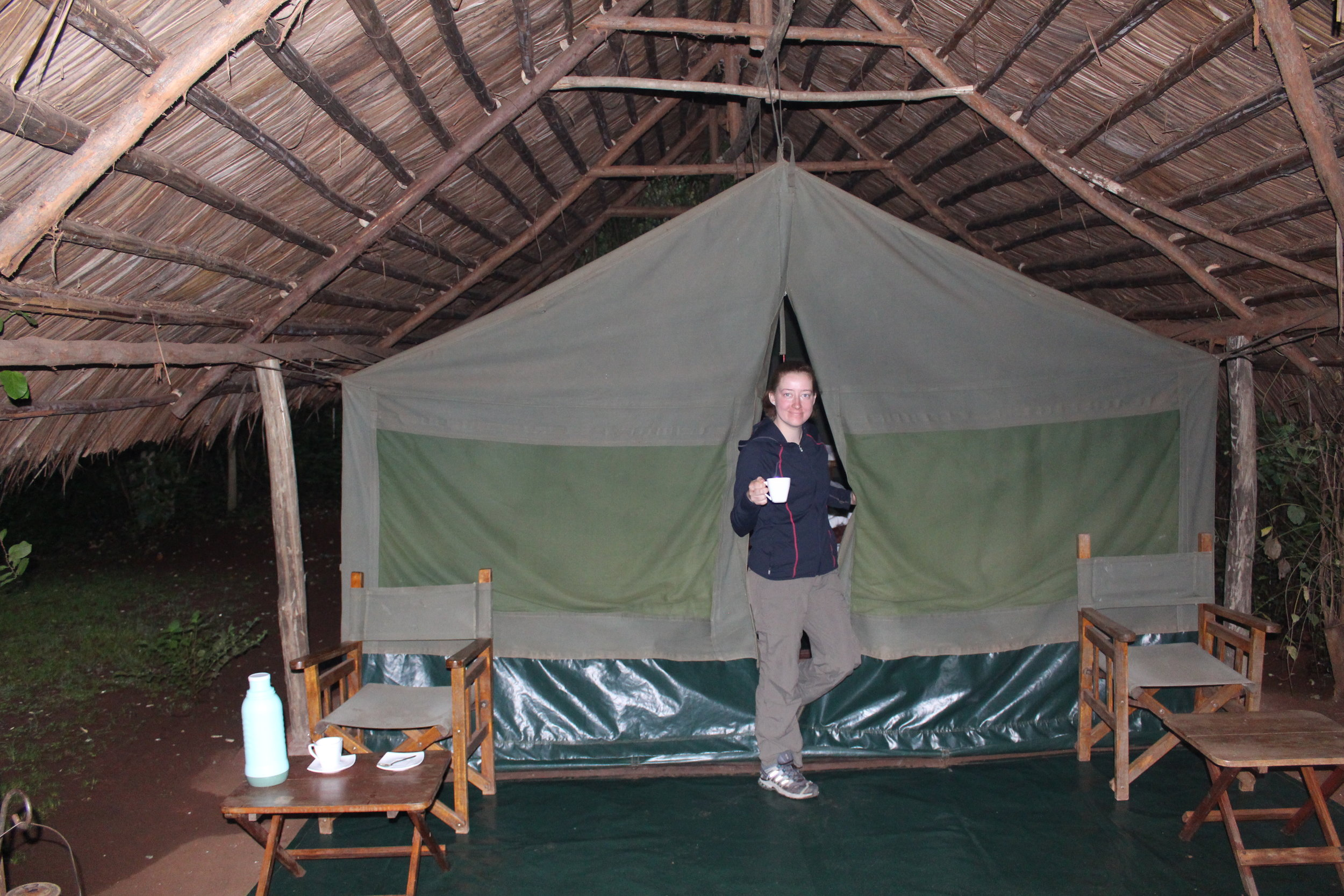 It was so nice waking up to tea outside our tent!