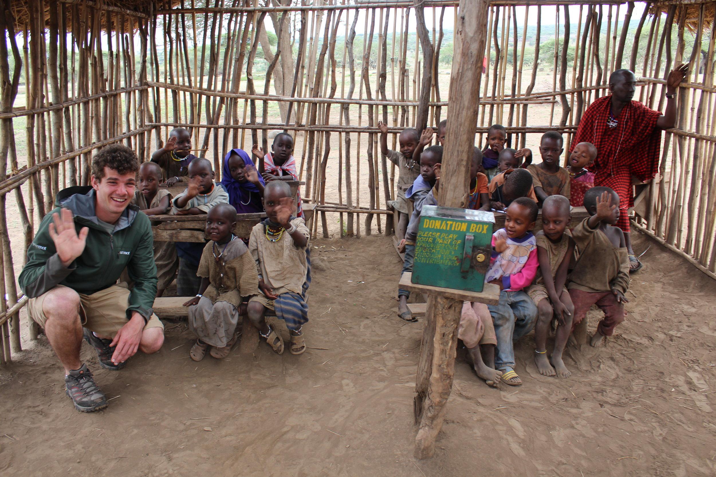 Massai school children