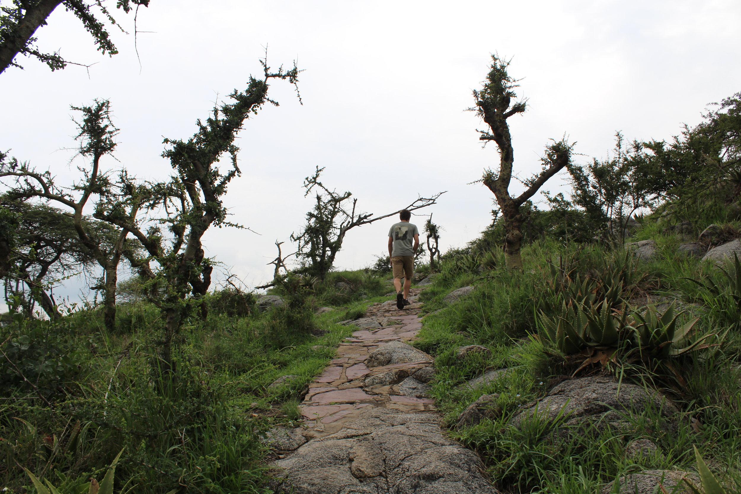 Hiking up Naabi Hill