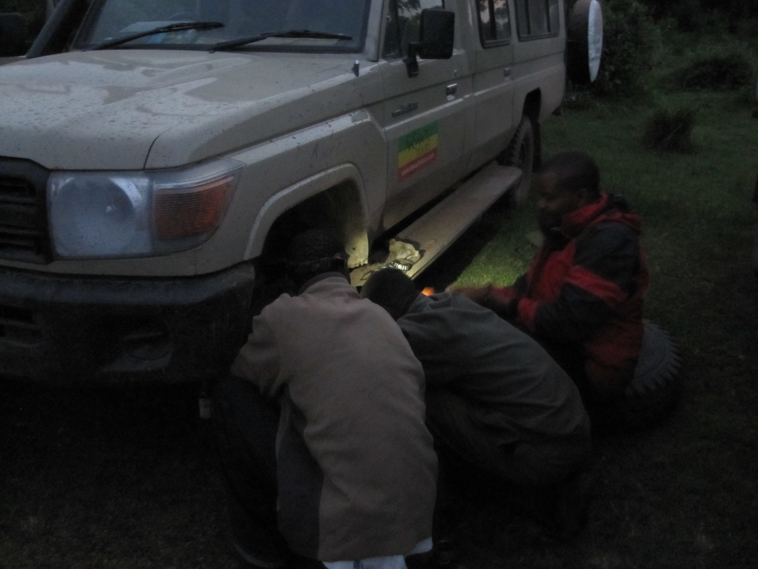Fixing our broken safari vehicle