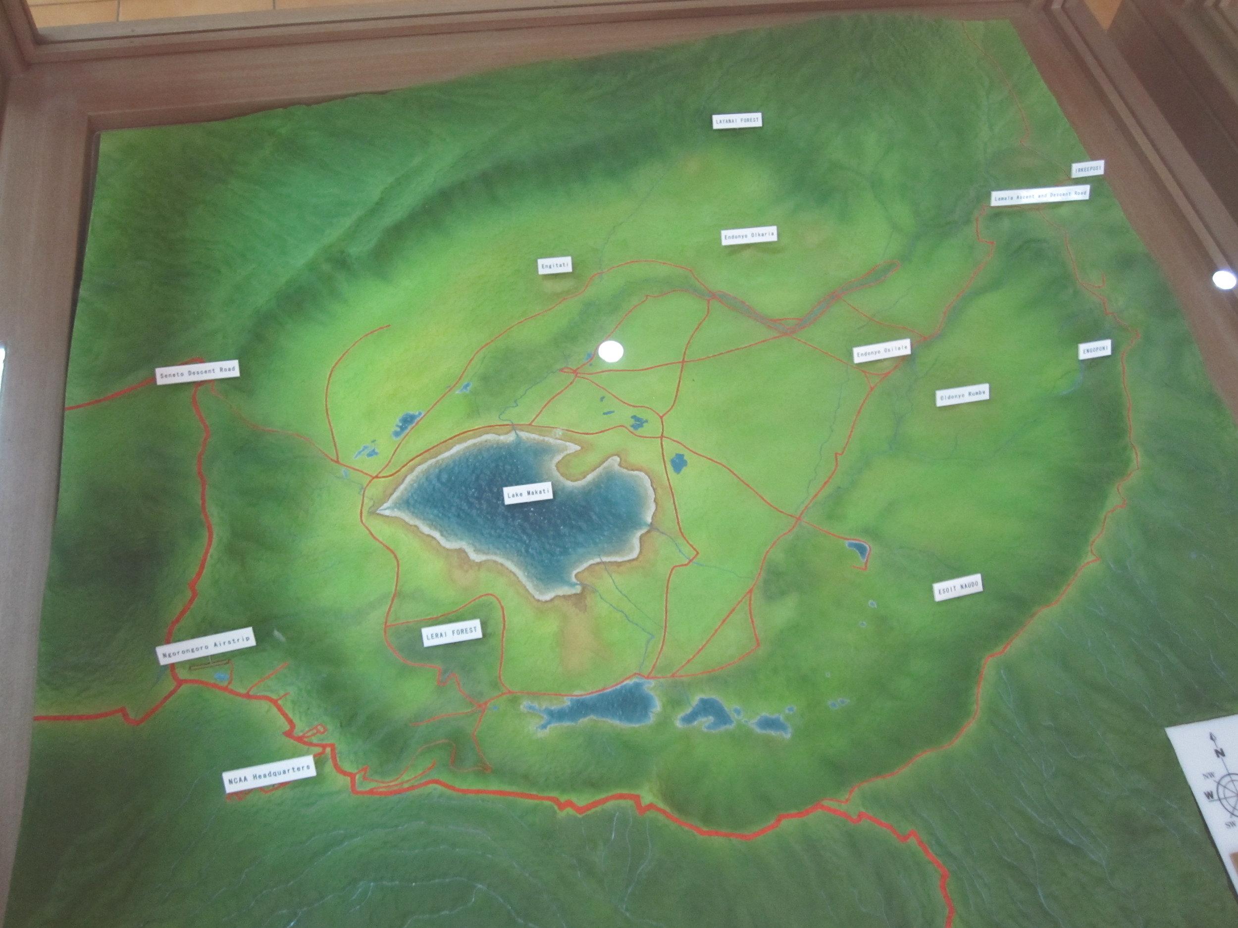 Map of Ngorongoro Crater