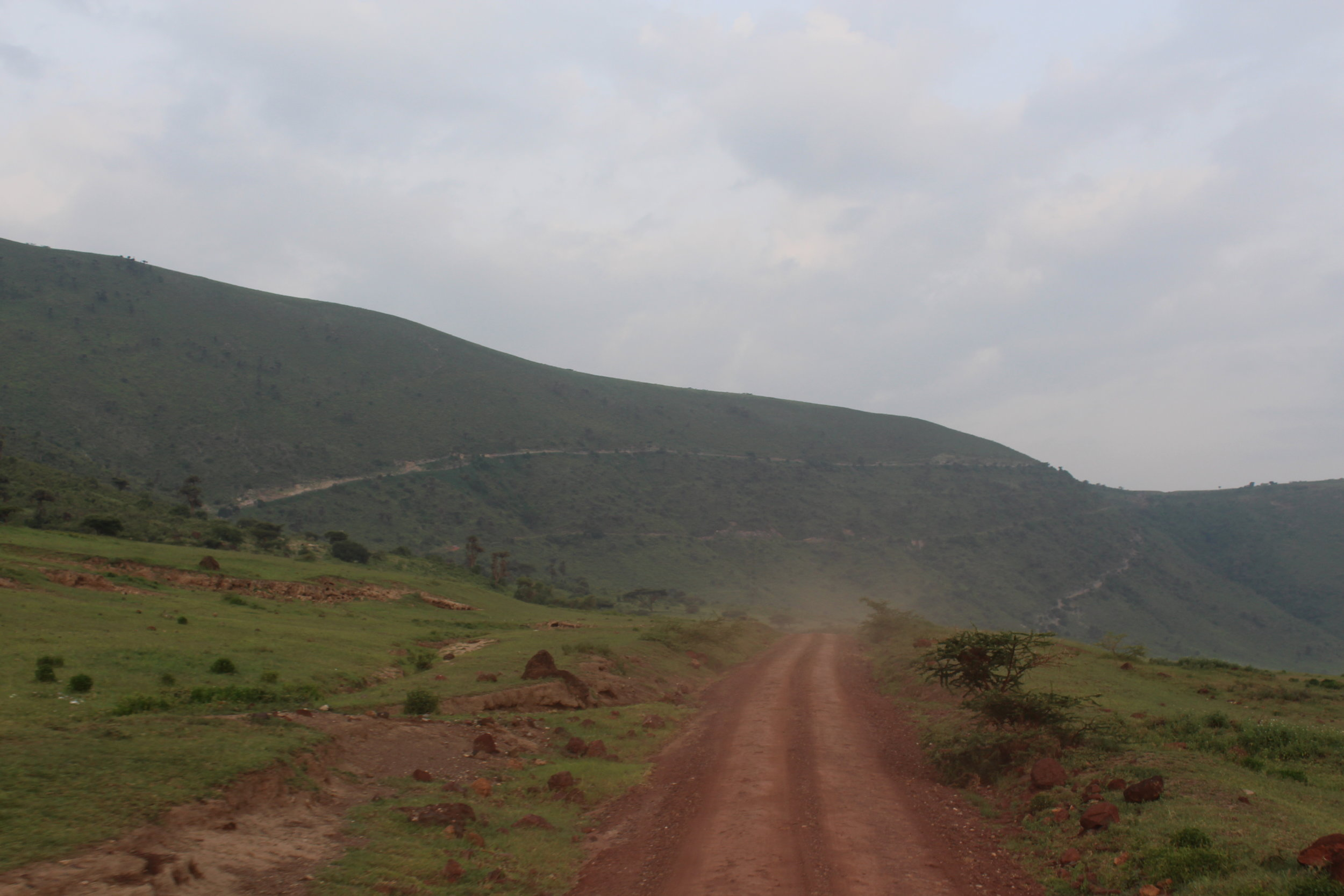 Road down to Ngorongoro Crater