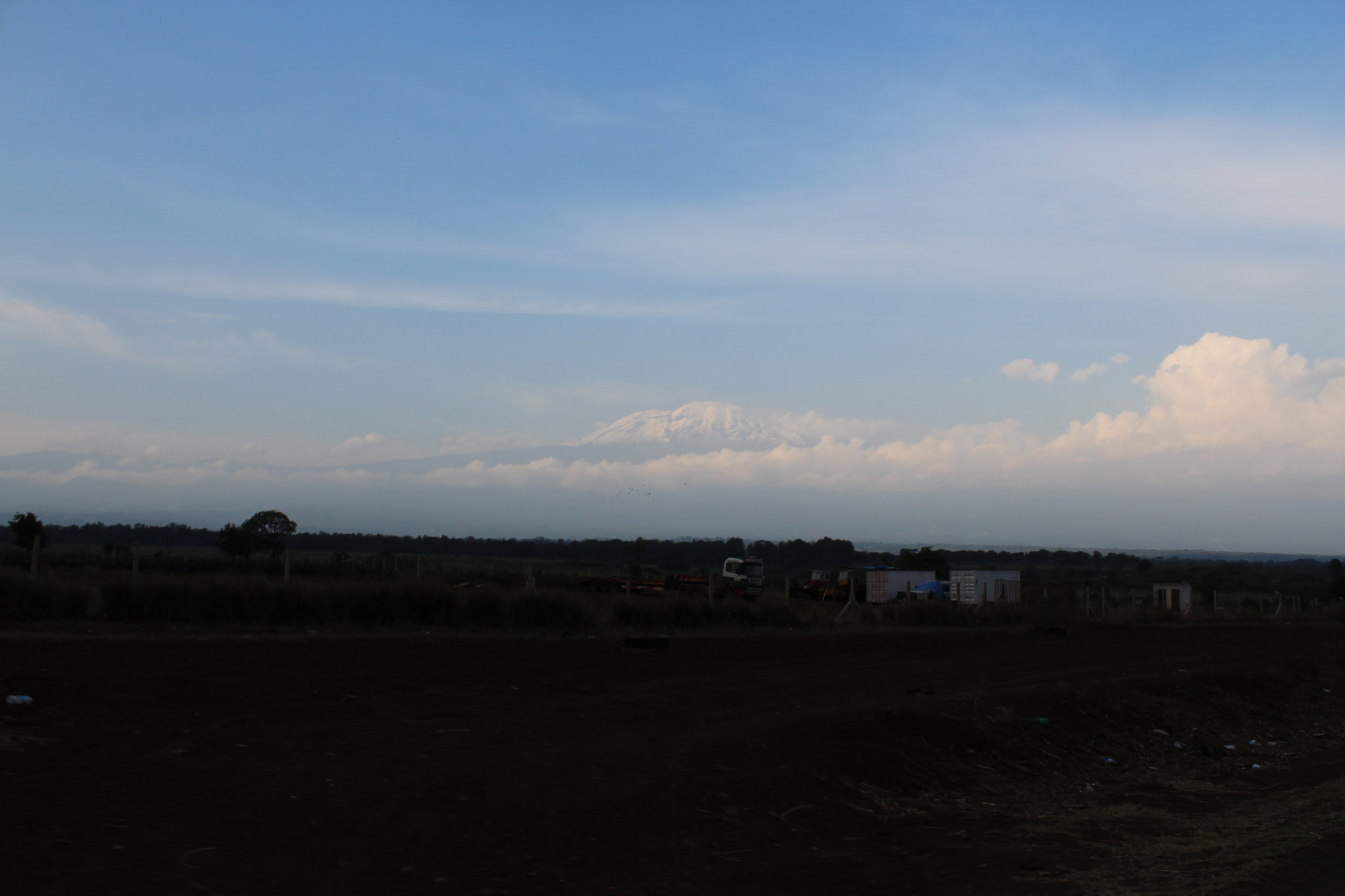 View of Mount Kilimanjaro on our drive home from Ngorongor Crater.