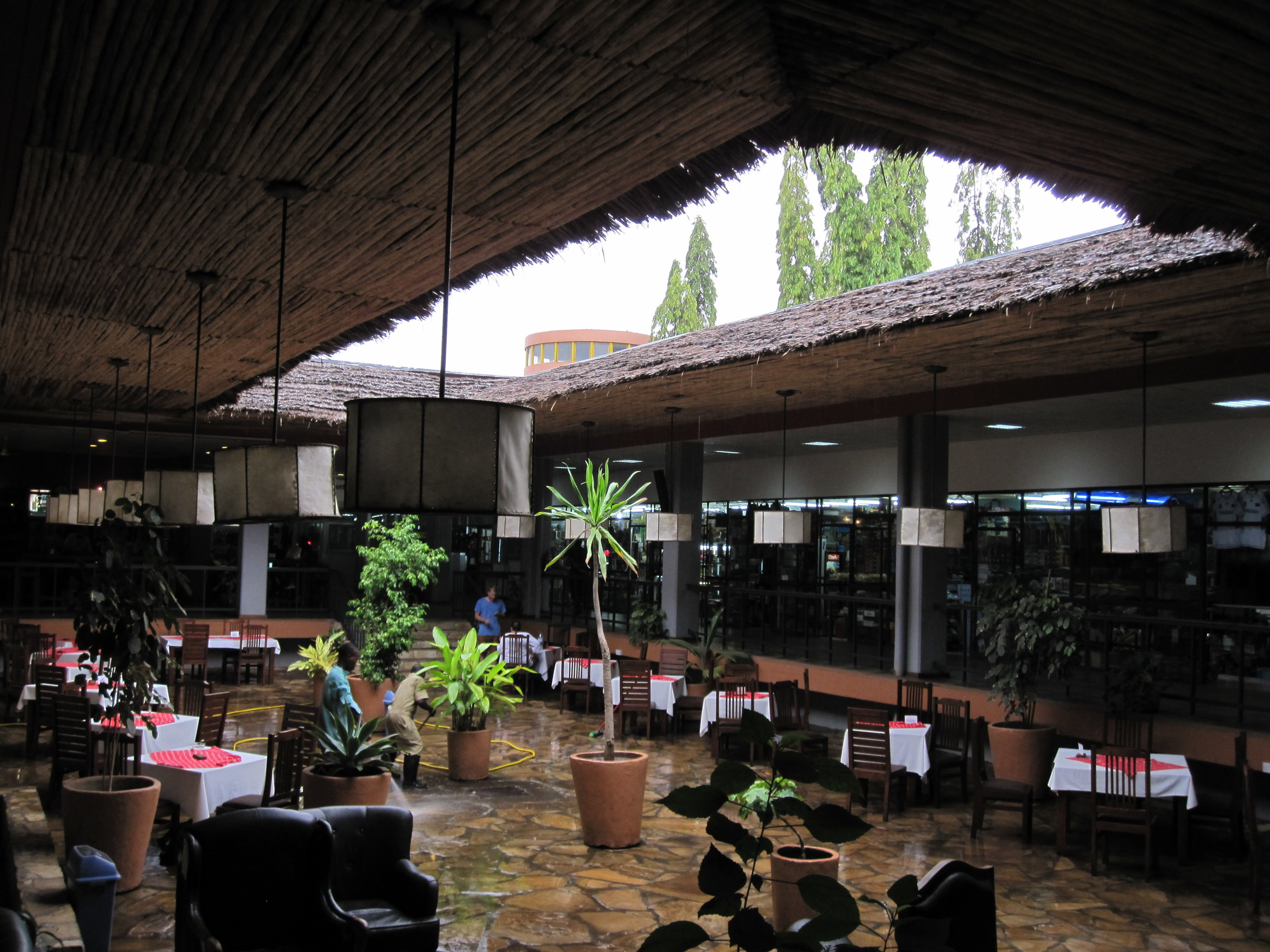 Open eating area at Kilimanjaro International Airport