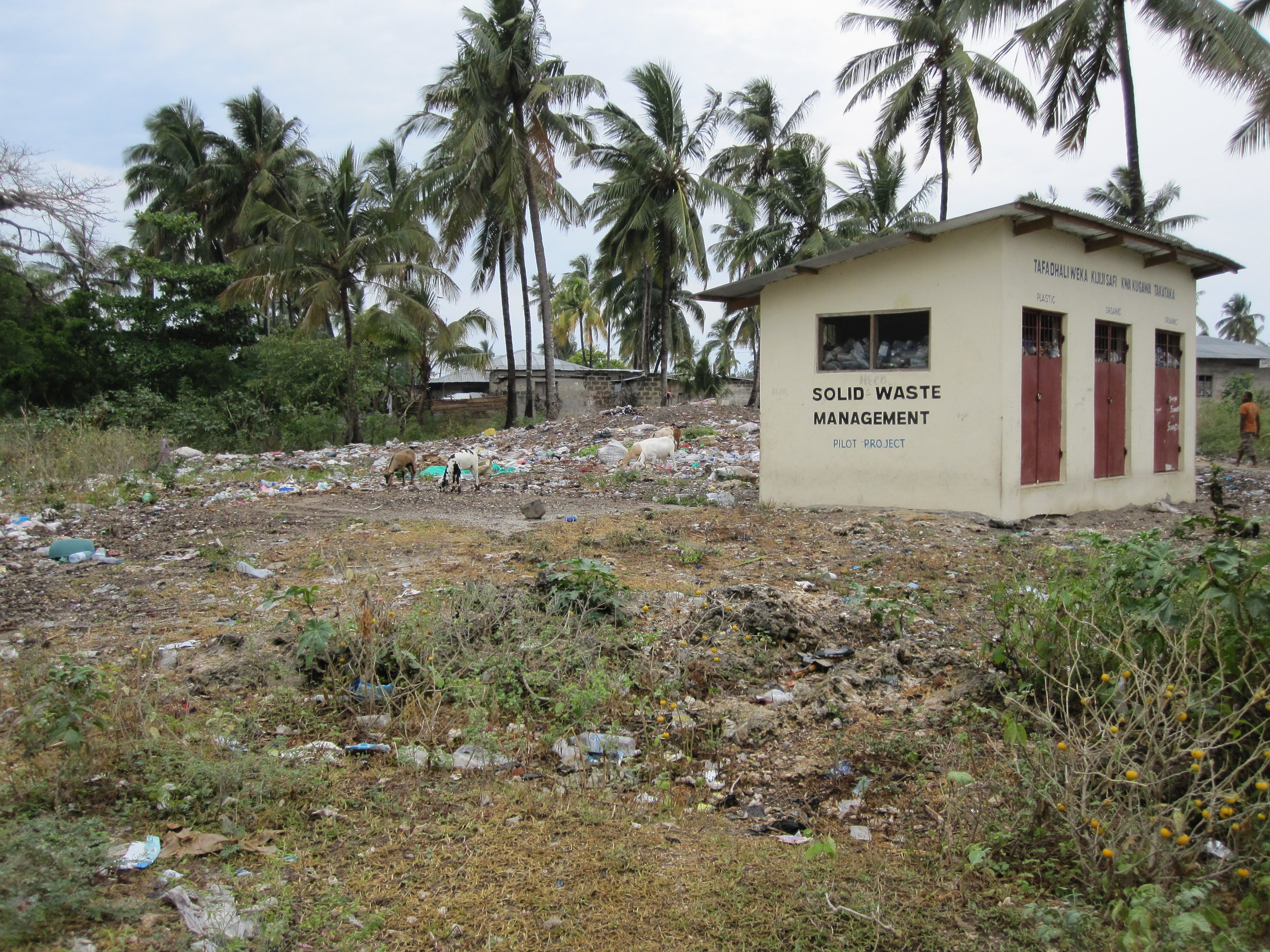 """The trash in the local villages of Zanzibar was terrible, even at the """"Waste Management"""" center."""