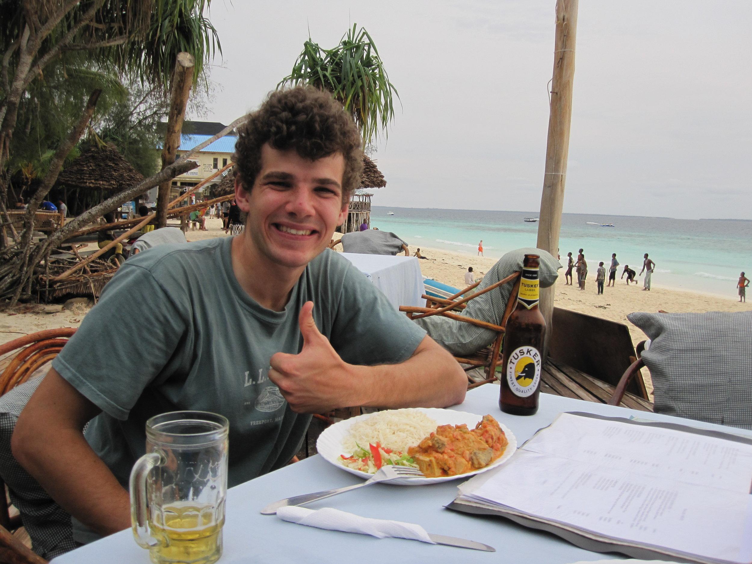 Dinner on the beach in Nungwi, Zanzibar