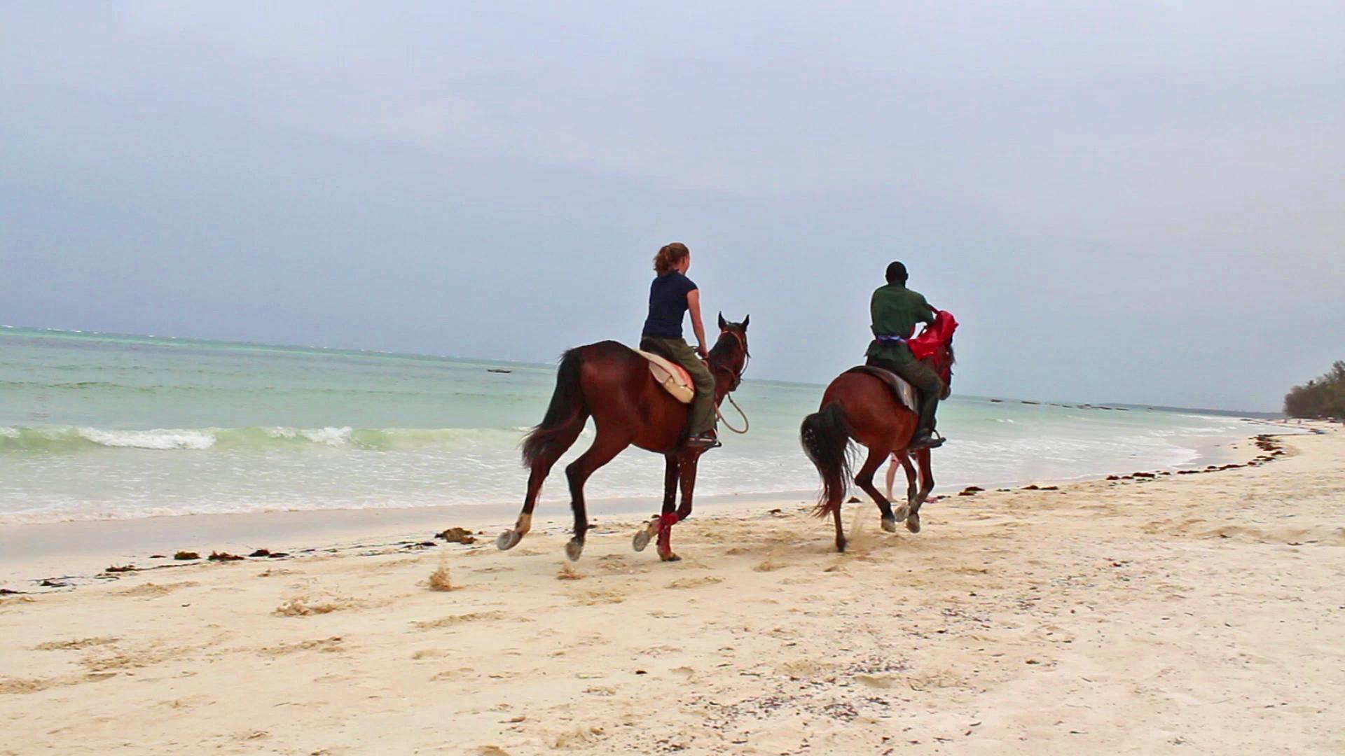 Horseback riding on the beach in Kiwengwa, Zanzibar