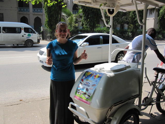 Ice cream cart in Stone Town