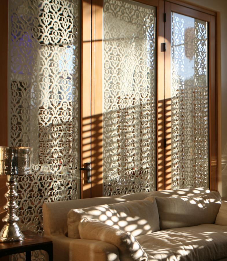 Alchemy Arts   Moorish Leaves, Decorative window panel