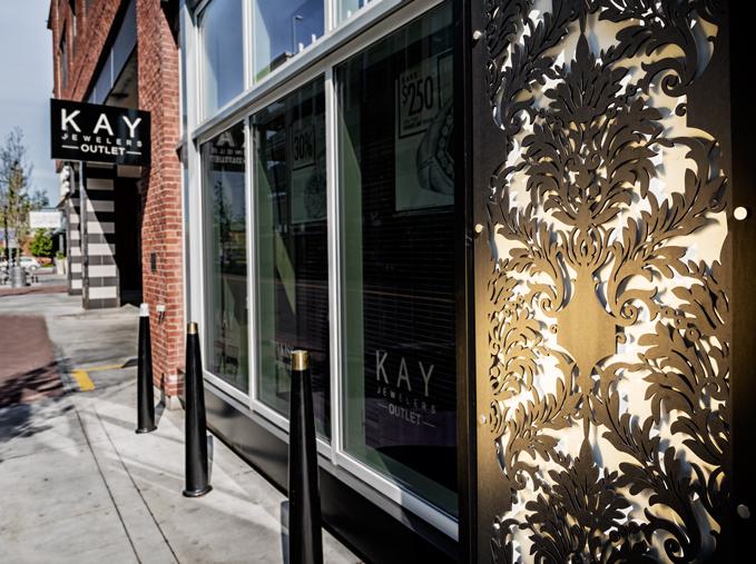 Kay Jewelers   Outdoor decorative panels
