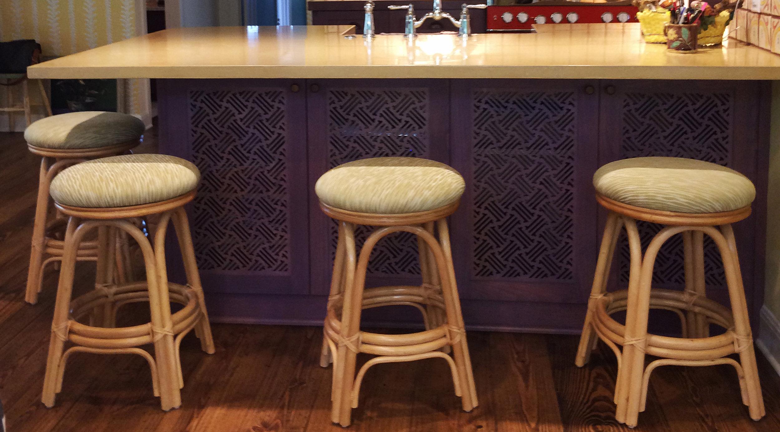 Residence,Austin, TX   Hawaiian pattern, Kitchen cabinets and island