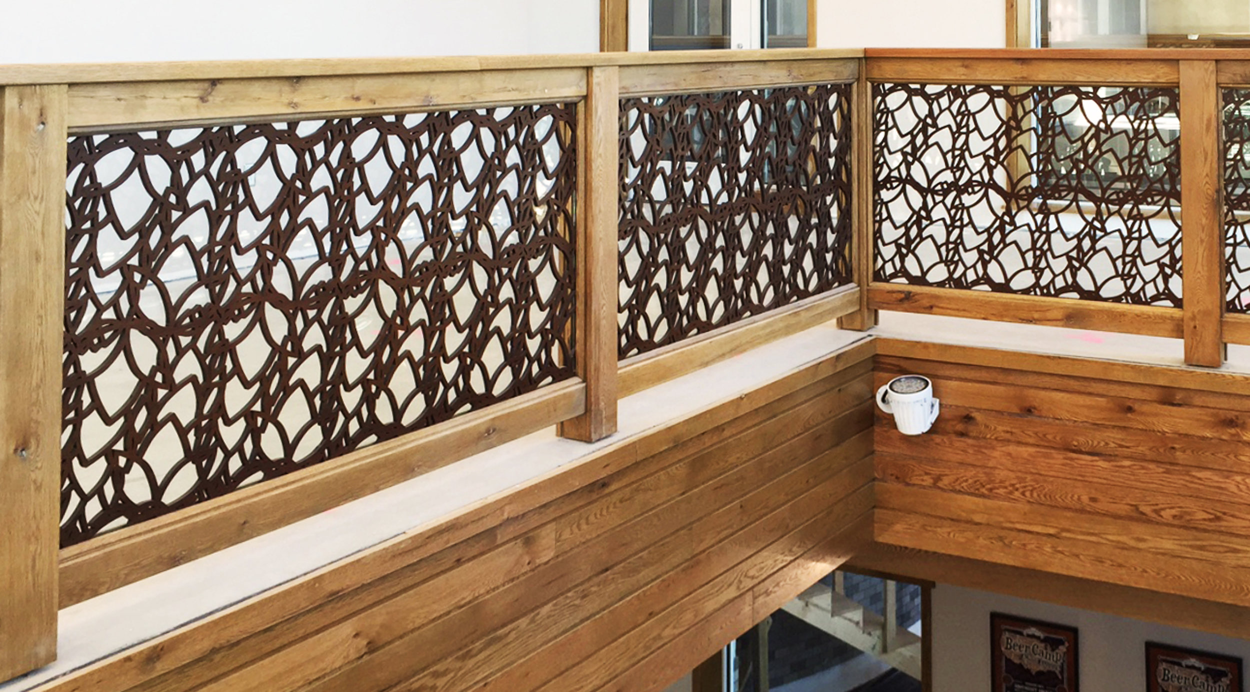 Sierra Nevada Brewery,Mills River, NC   Custom pattern, Stair railing