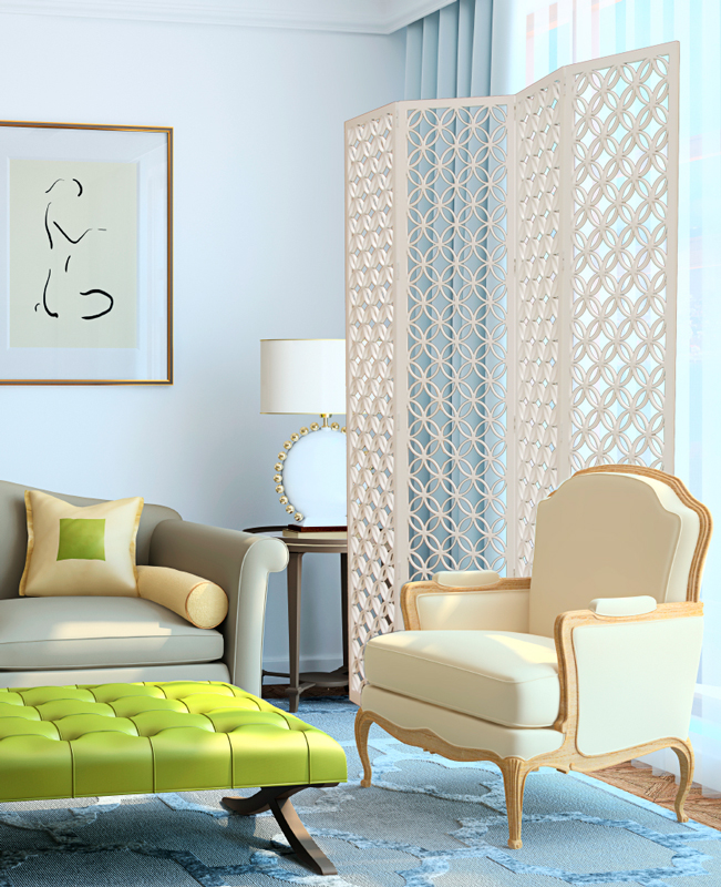 Better Homes and Gardens   Japanese Circles Thin, Floorscreen