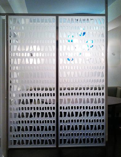 Custom pattern, Acrylic room divider