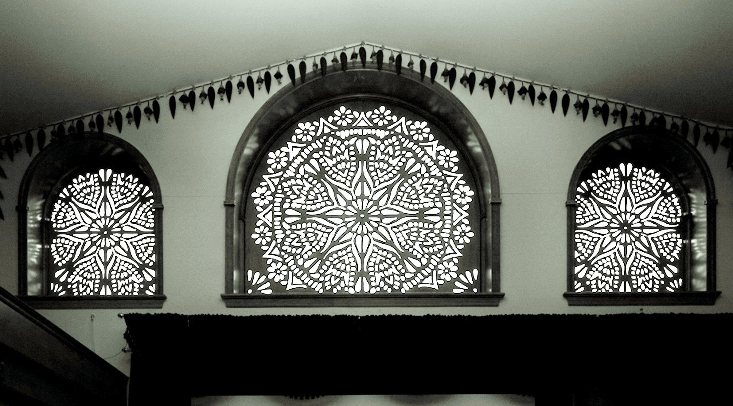 Arsha Bodha Center, Somerset, NJ   Custom pattern, Window screens