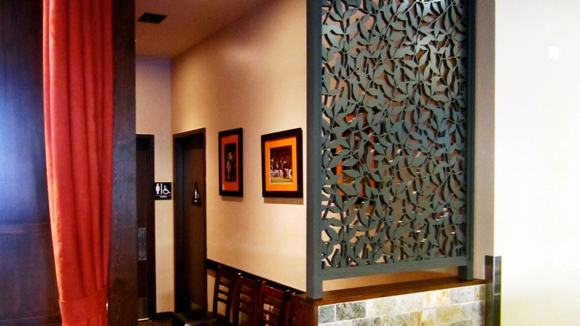 Jack's Restaurant, San Francisco, CA - Bellusci Design  Heavenly Bamboo, Wall partition