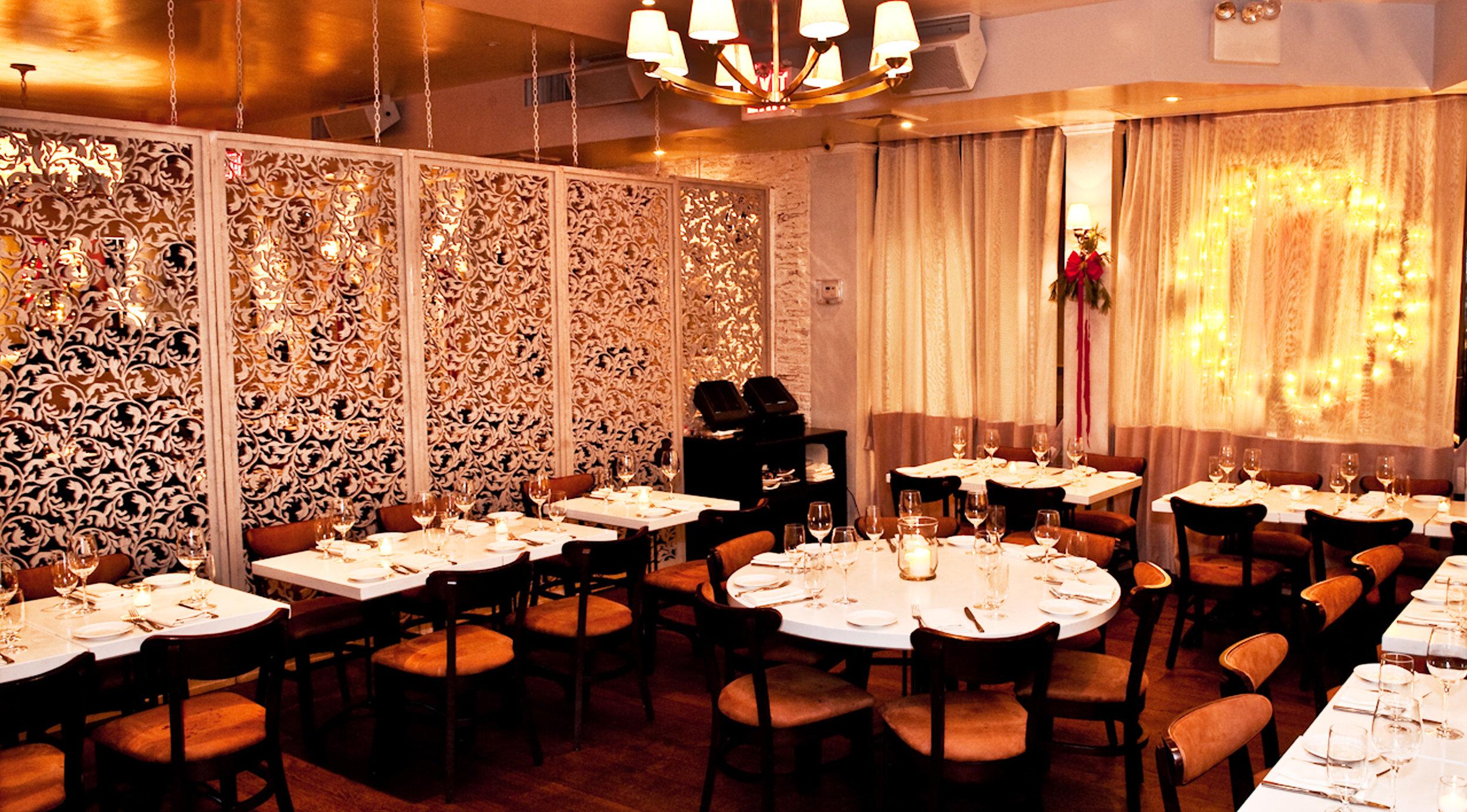 MPD Restaurant, NY   Crocus Spirals, Wall partitions