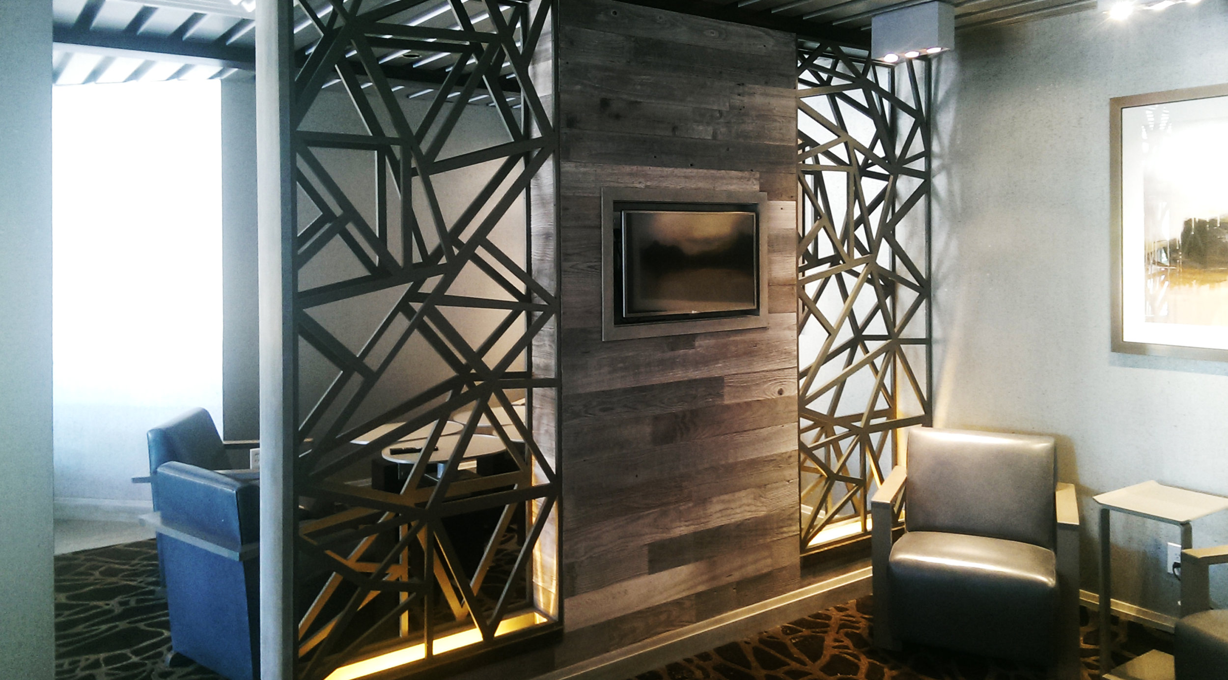 Private Office Space, Custom pattern, Wall partition
