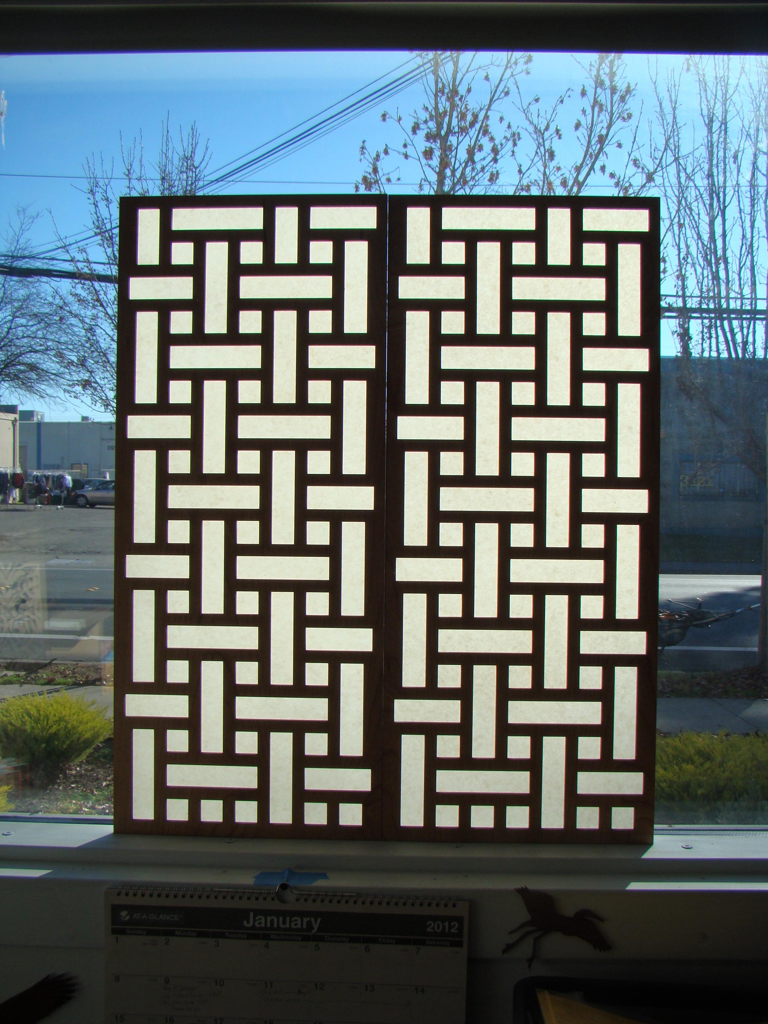 Basketweave Pattern with Shoji Paper Backing
