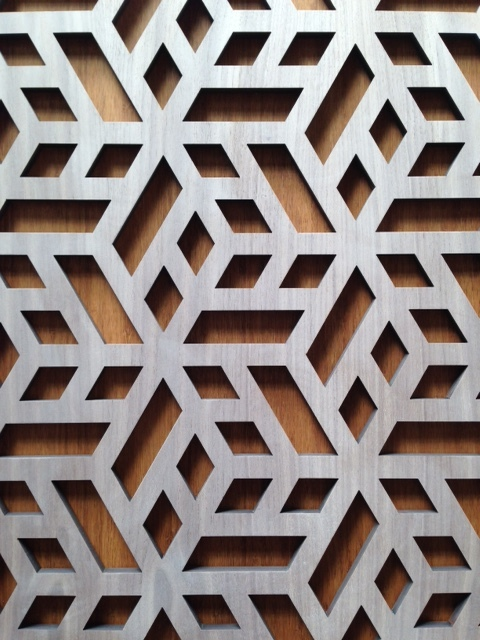 Chinoise Cube laser cut detail