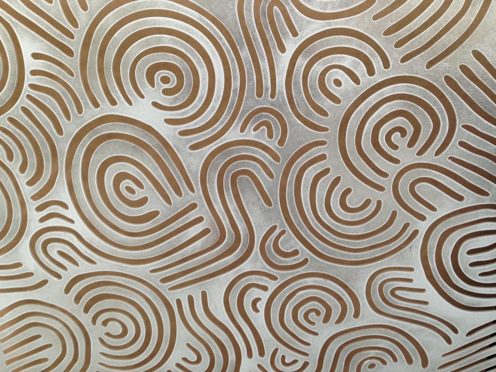 Deco Swirls pattern detail