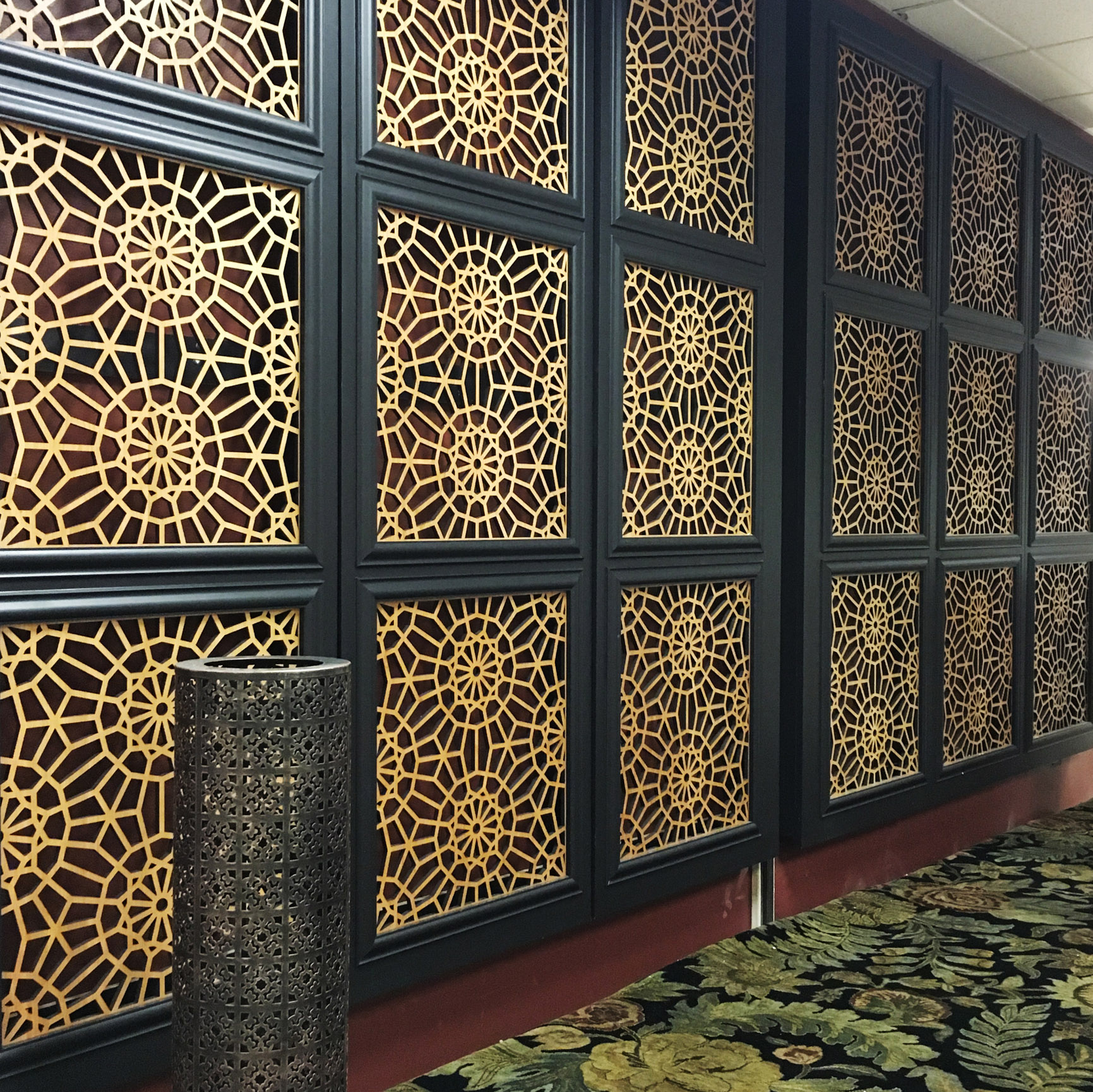 Khadija O'Connell , Khadija Annette Design  Marrakech pattern, decorative wall panels