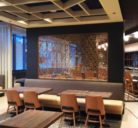 Arroz by Mike Isabella, Washington, DC - Hospitality Construction Services  Seville pattern, wall partition