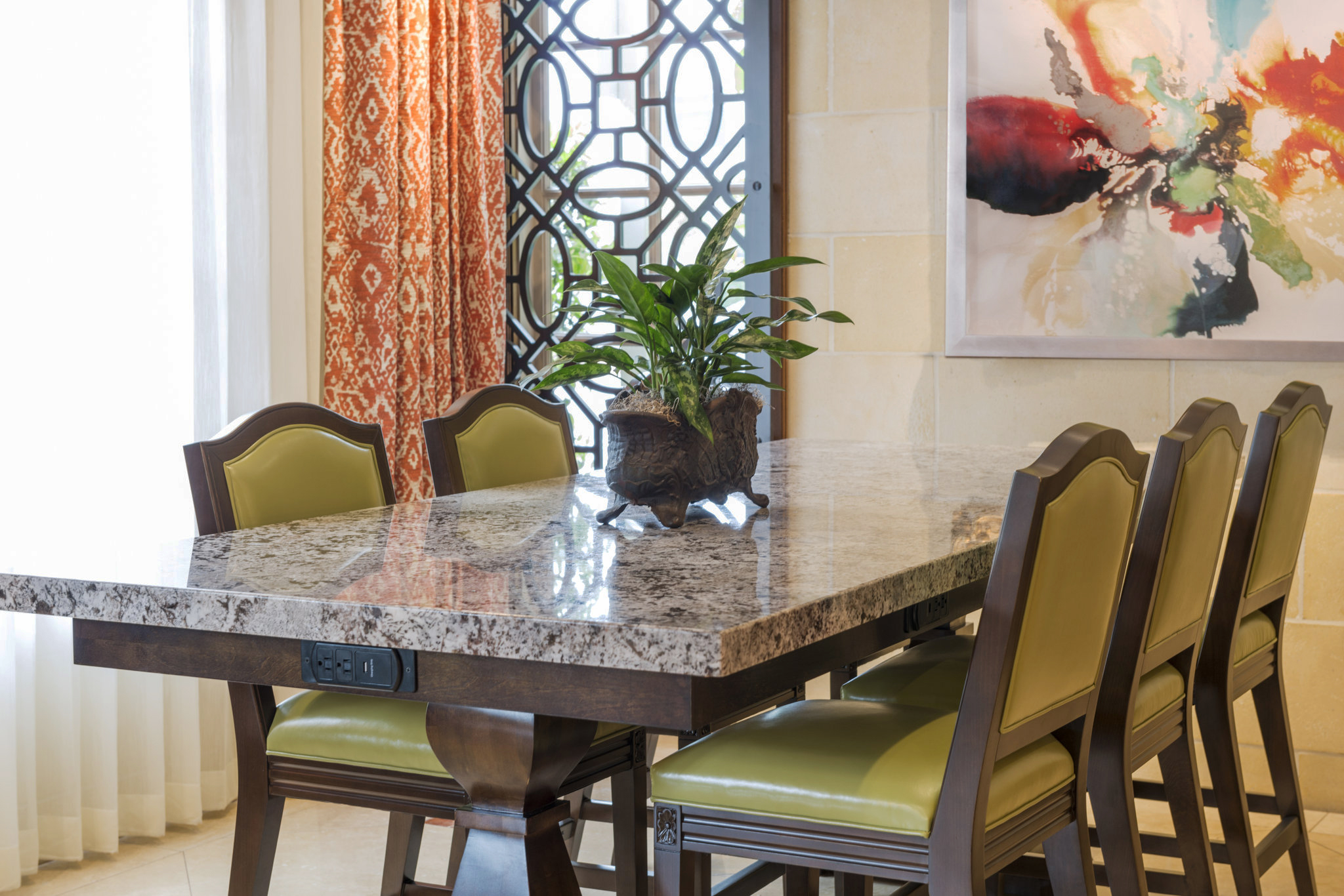 Ayres Hotel, Anaheim, CA   Custom pattern, window accent