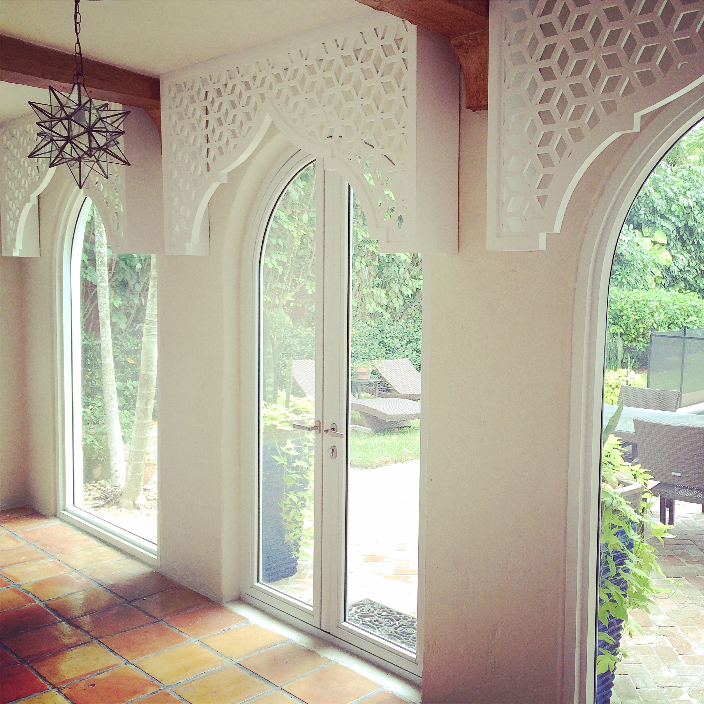 Residence, Miami FL - Trace Design Studio  Casablanca pattern, window covering