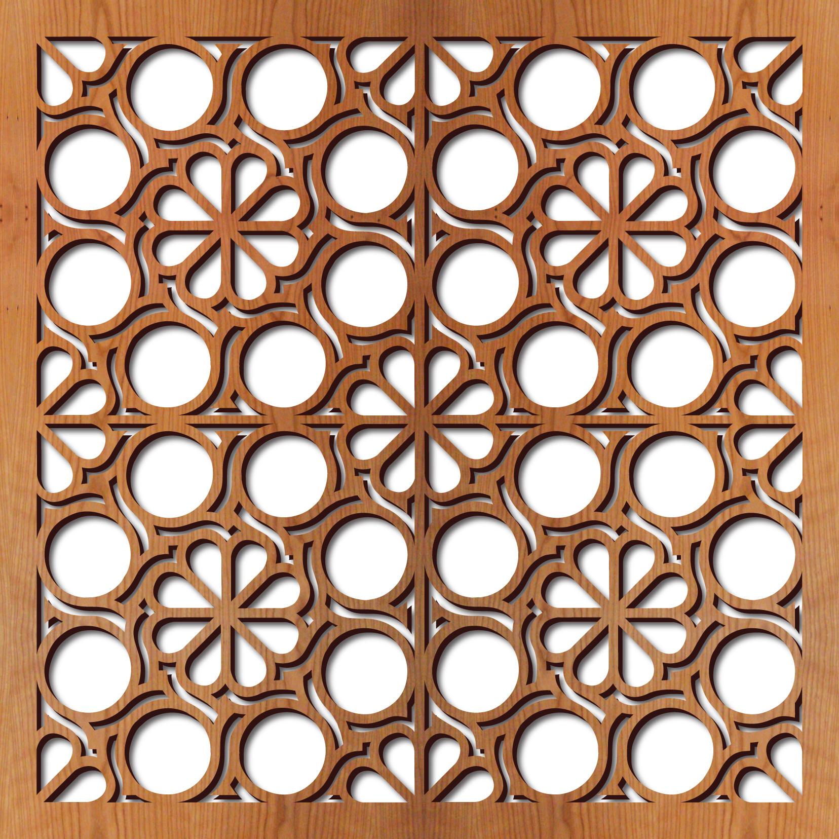 Flower Circles rendering 23 in. x 23 in.