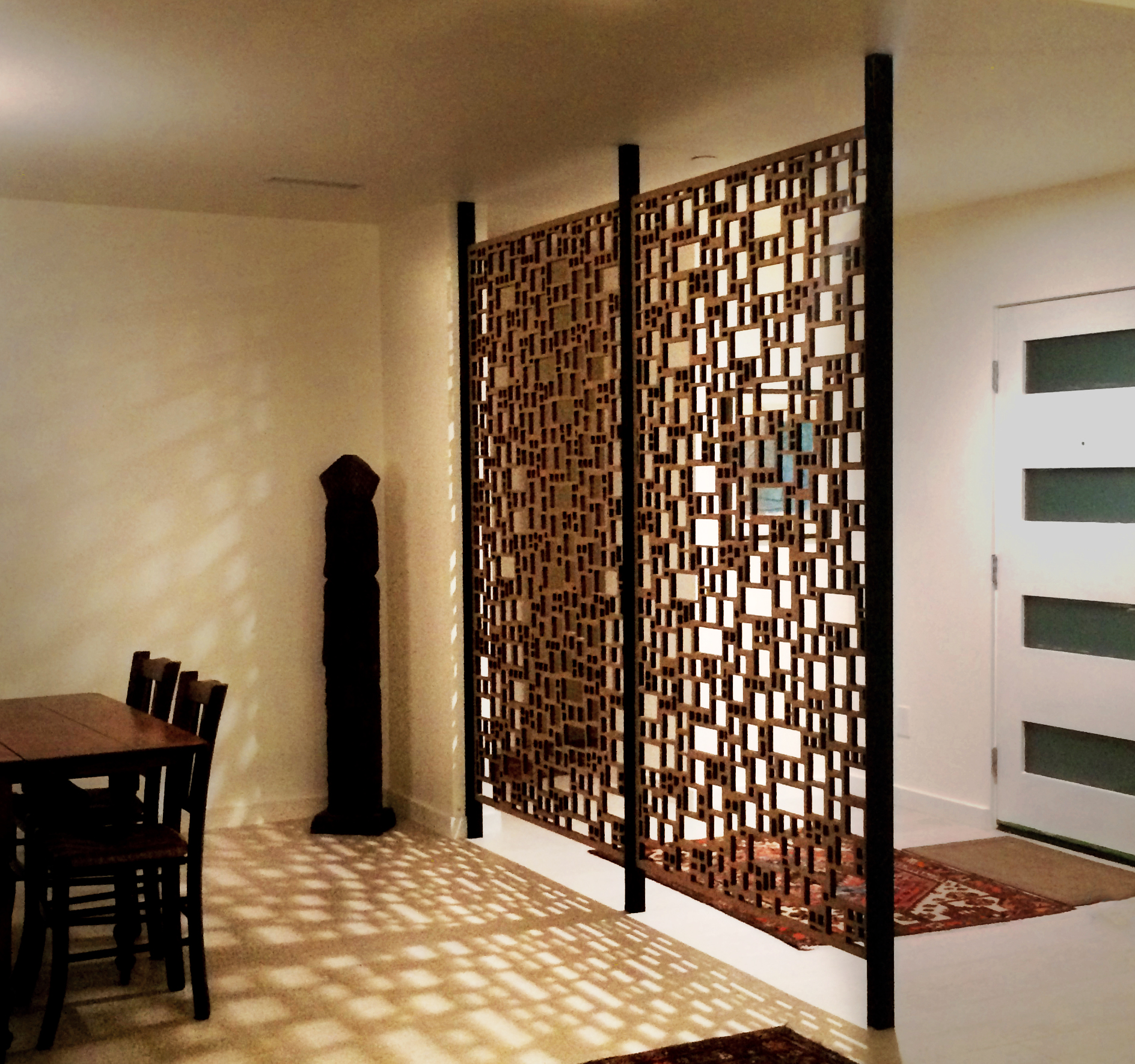 Barcelona Pattern, laser cut wall partition