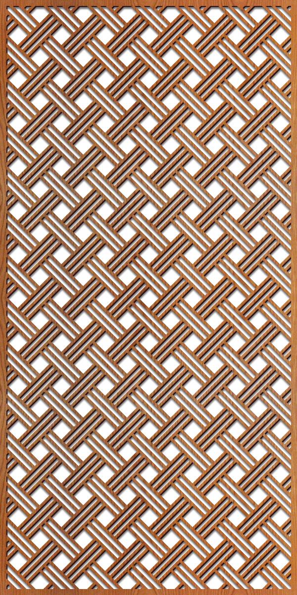 Open Basketweave rendering at 4 ft. x 8 ft.