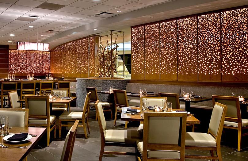 Crowne Plaza O'Hare Hotel, Chicago, IL   Dappled Light, backlit panels