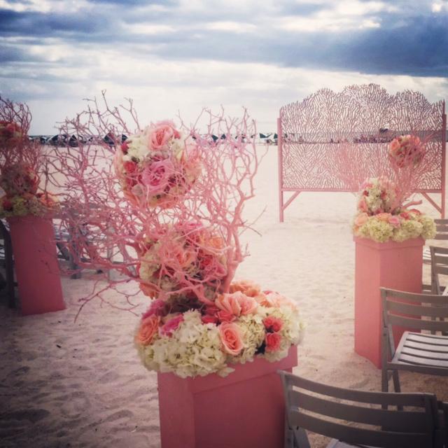 Carrie Darling Events   Wedding Altar, Sea Fan Pattern