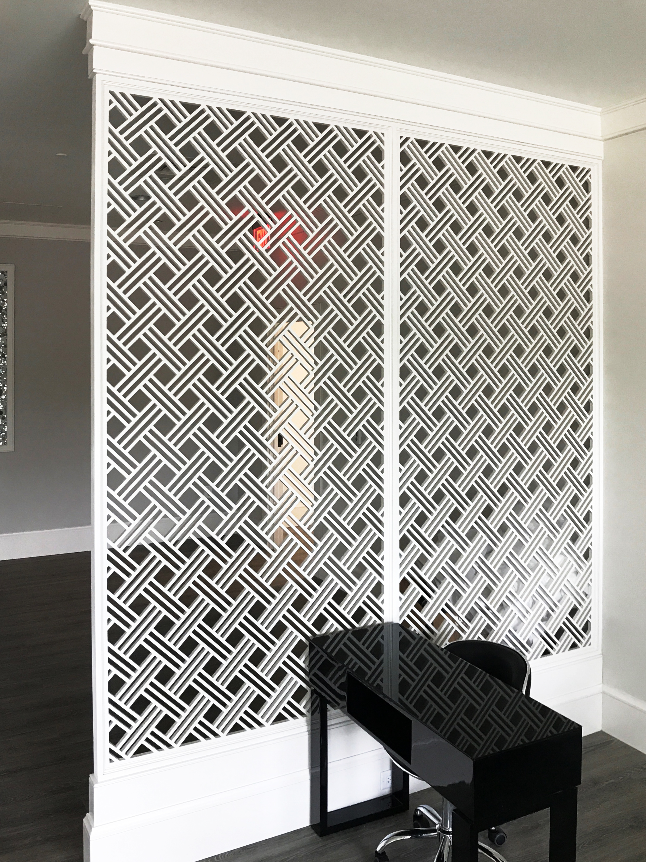 Pridgen Woodwork Inc.   Open Basketweave, Wall partition